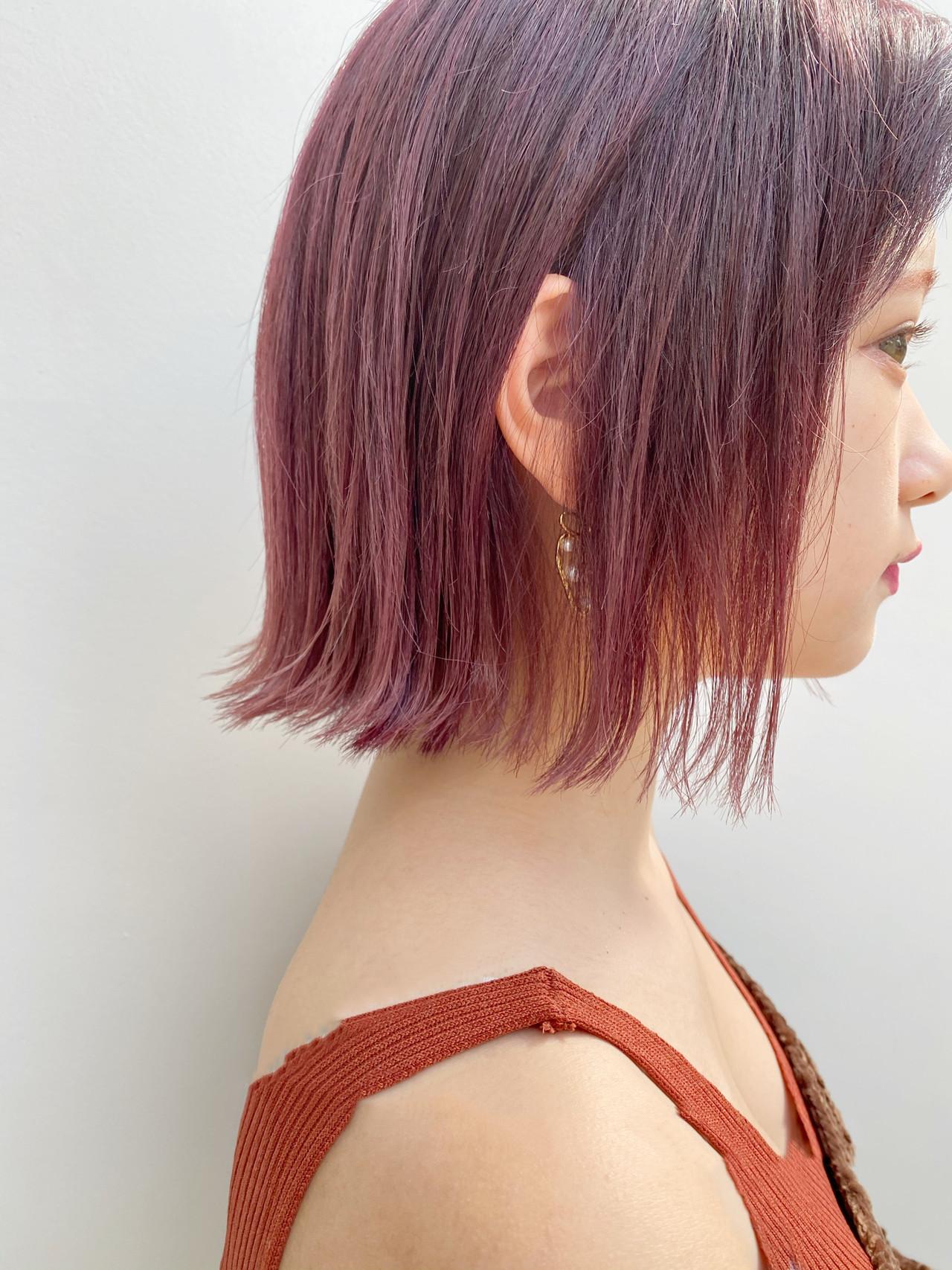 デート ミニボブ ボブ 切りっぱなしボブ ヘアスタイルや髪型の写真・画像 | 切りっぱなしボブを流行らせた人 Un ami増永 / Un ami omotesando