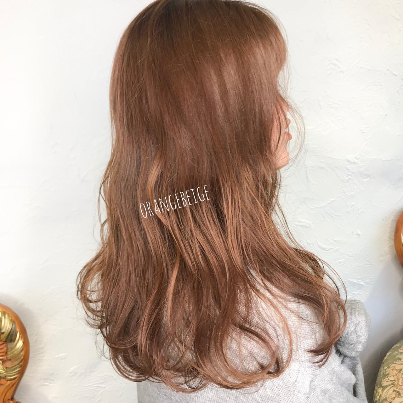 ゆるふわ シナモンベージュ ゆるふわパーマ オレンジベージュ ヘアスタイルや髪型の写真・画像 | aya / RITA&Co.大宮東口店