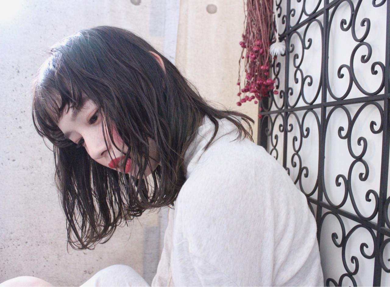 アンニュイ ナチュラル 秋 ウェーブ ヘアスタイルや髪型の写真・画像