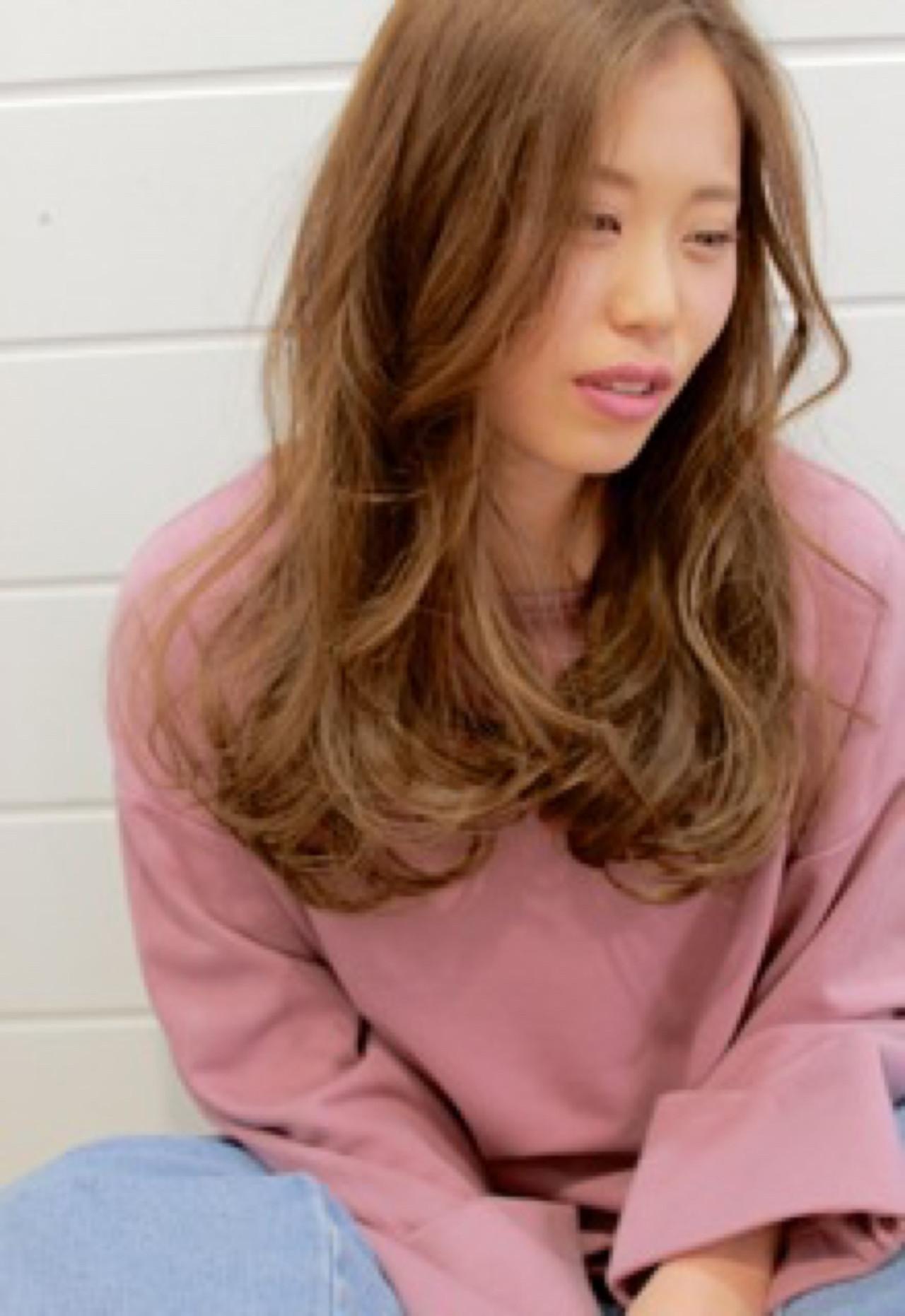 ロング エレガント 小顔 こなれ感 ヘアスタイルや髪型の写真・画像