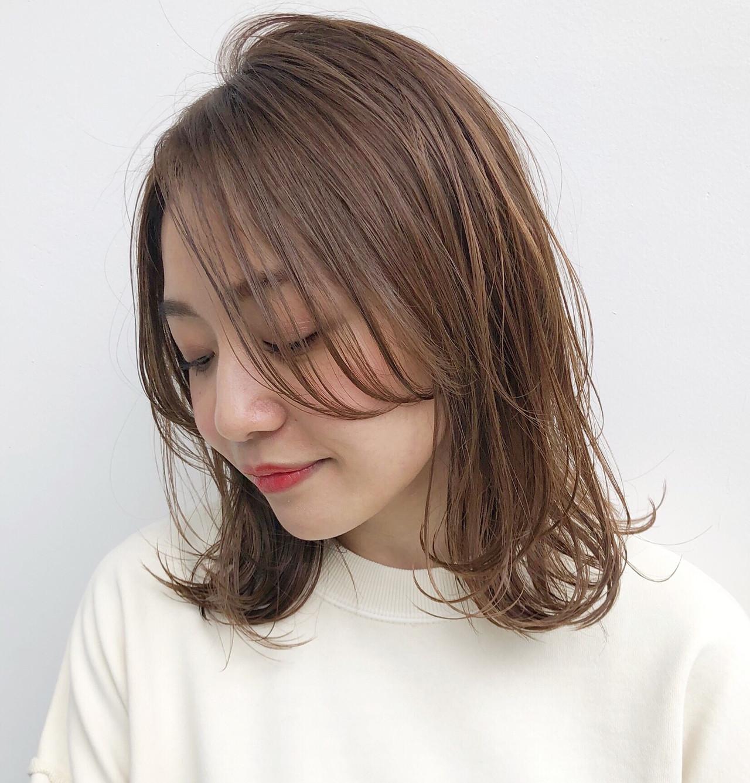 透明感カラー ブリーチなし ナチュラル カジュアル ヘアスタイルや髪型の写真・画像