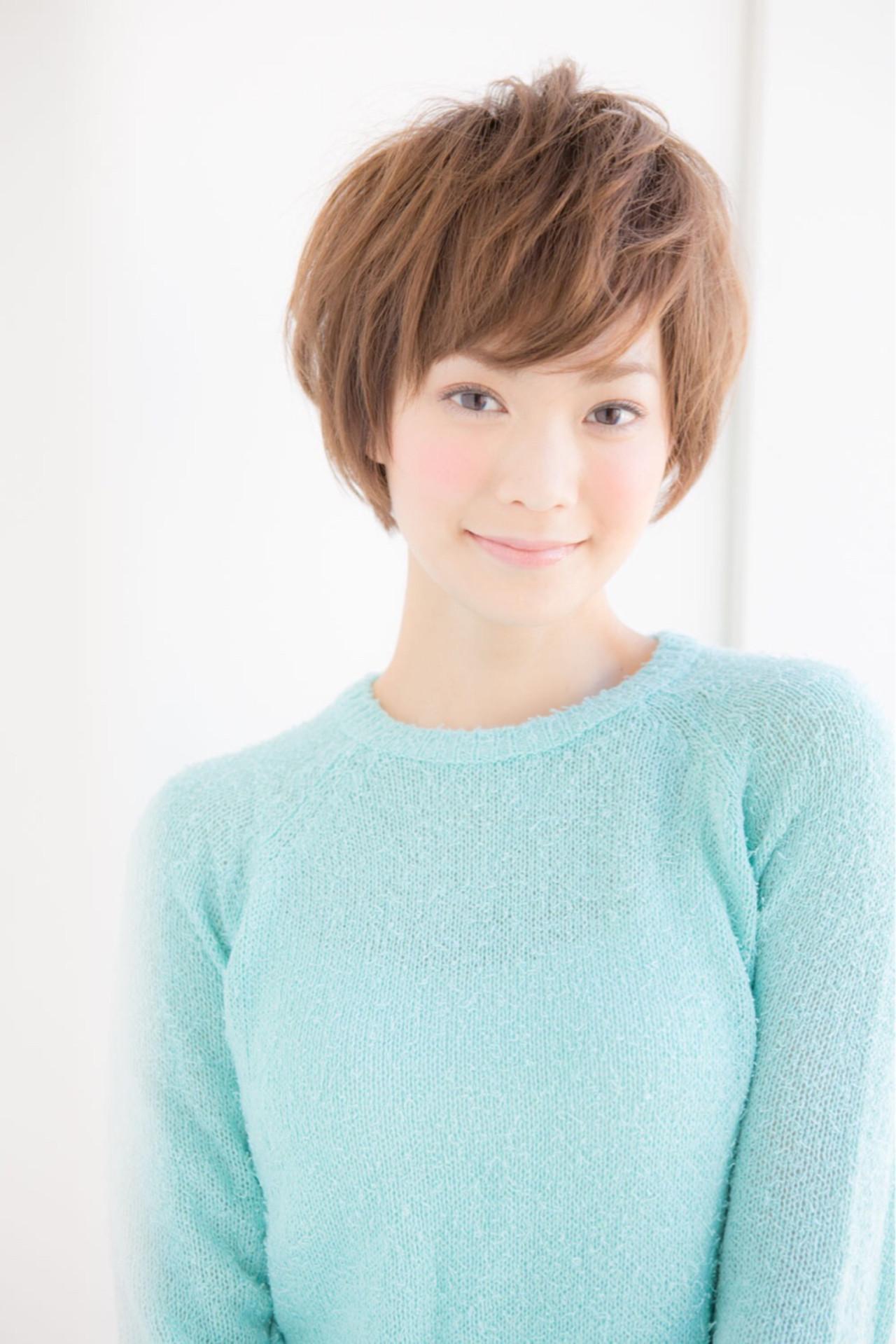 デート ヘアアレンジ ナチュラル ショート ヘアスタイルや髪型の写真・画像 | 松下哲史 / Ramie omotesando