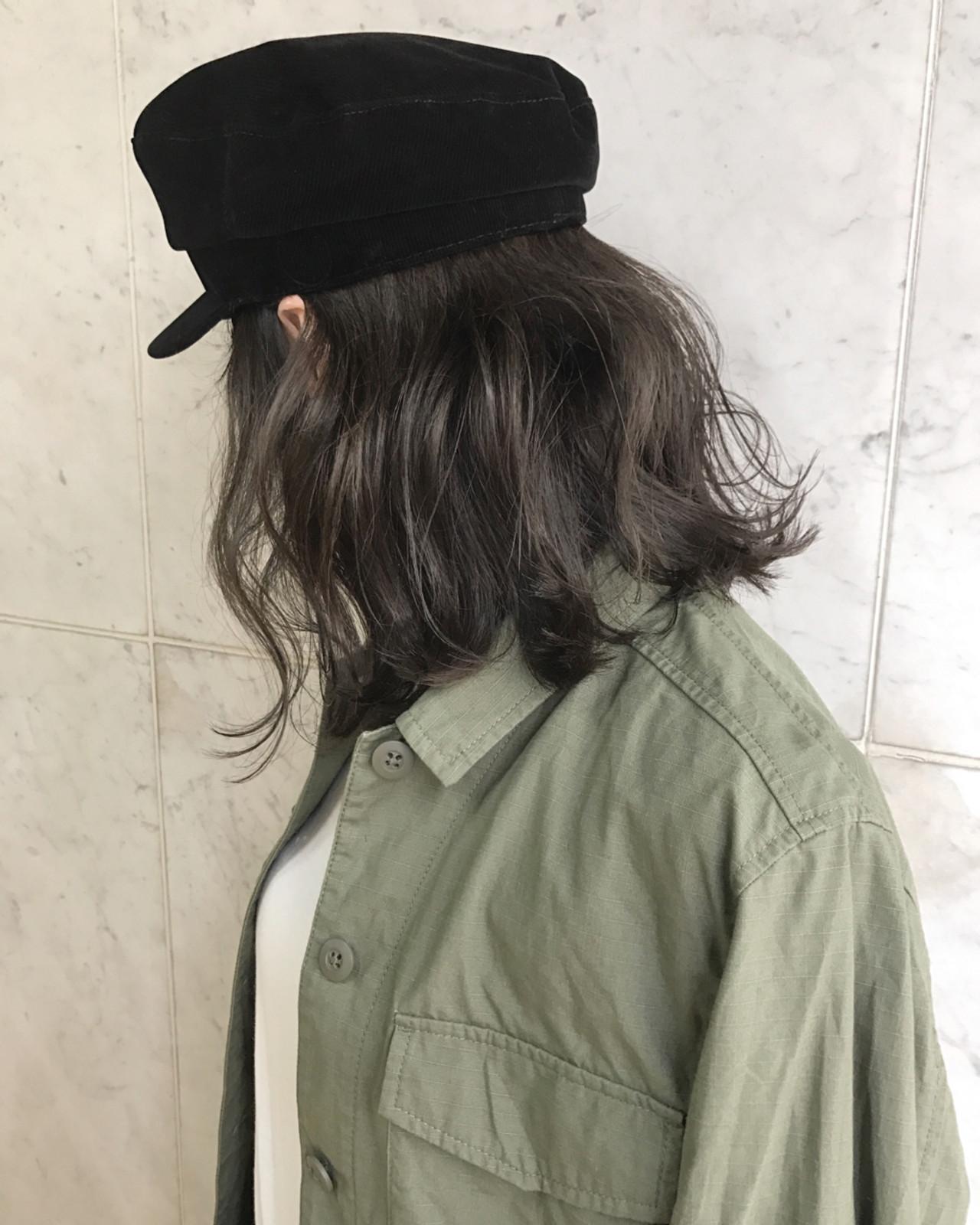 ボブ ナチュラル 外国人風カラー ハイライト ヘアスタイルや髪型の写真・画像