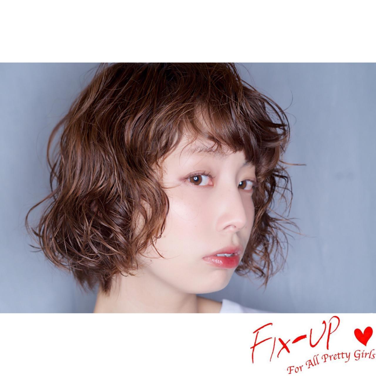 ボブ パーマ ストリート モード ヘアスタイルや髪型の写真・画像 | 宮崎 陽平 / FIX-UP表参道