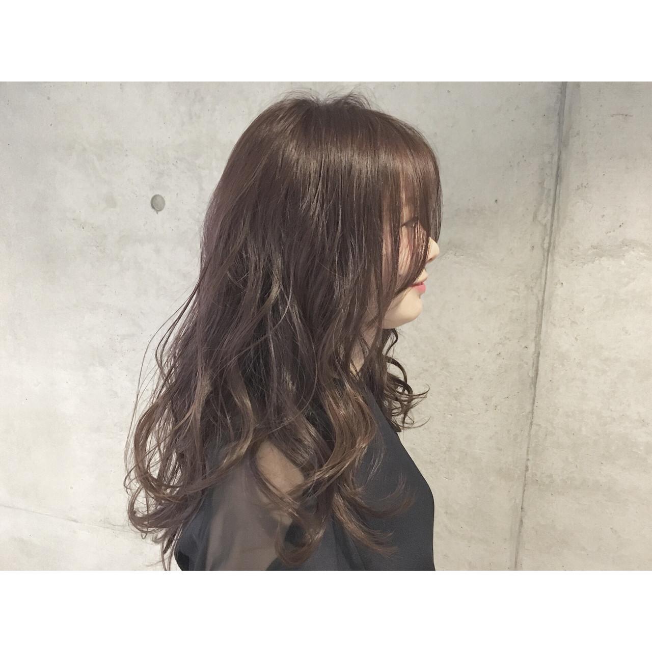 ナチュラル 暗髪 ゆるふわ アッシュ ヘアスタイルや髪型の写真・画像 | Sayaka / diptyMOILA