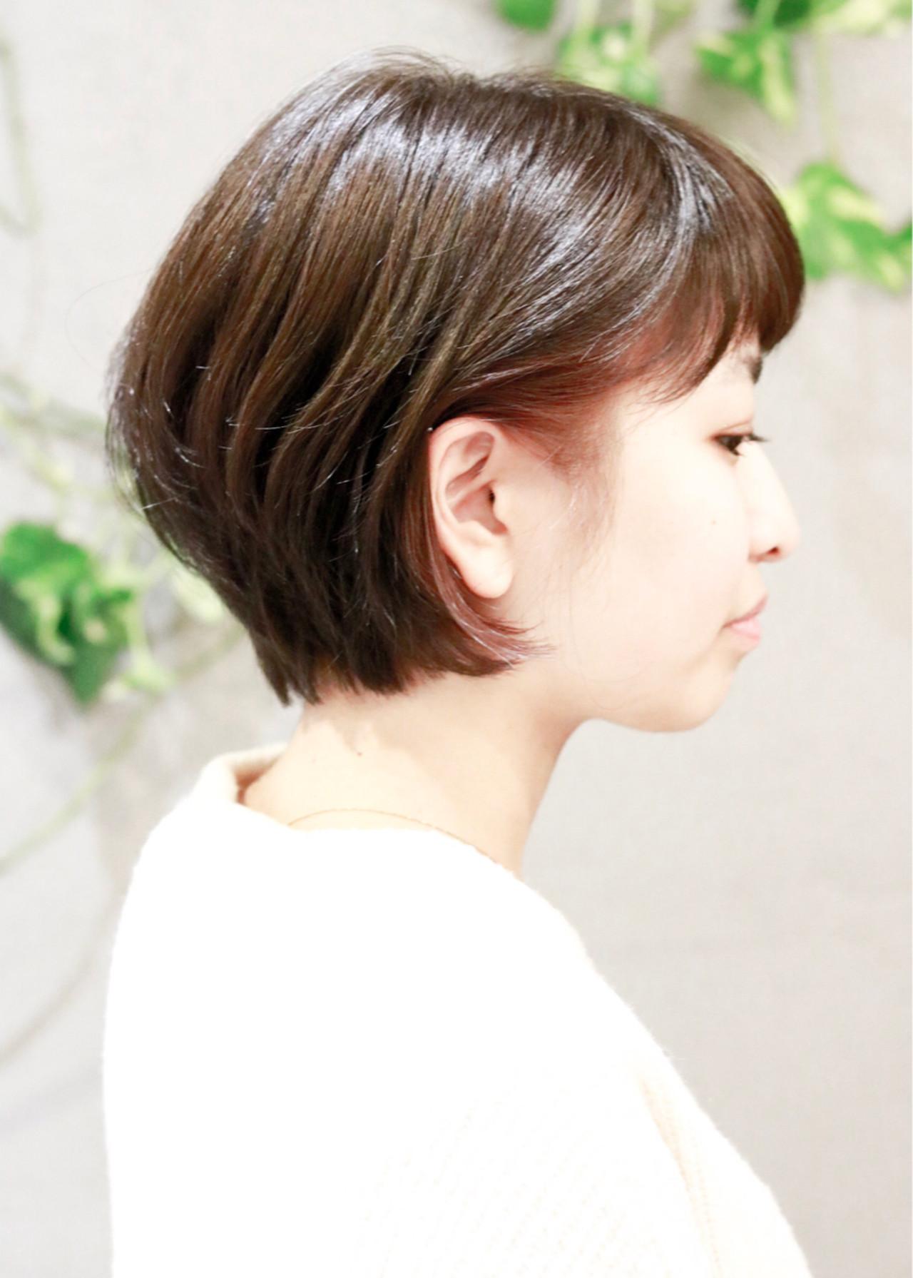 小顔 ボブ ショートボブ インナーカラー ヘアスタイルや髪型の写真・画像 | 清水 翔五 / sofa