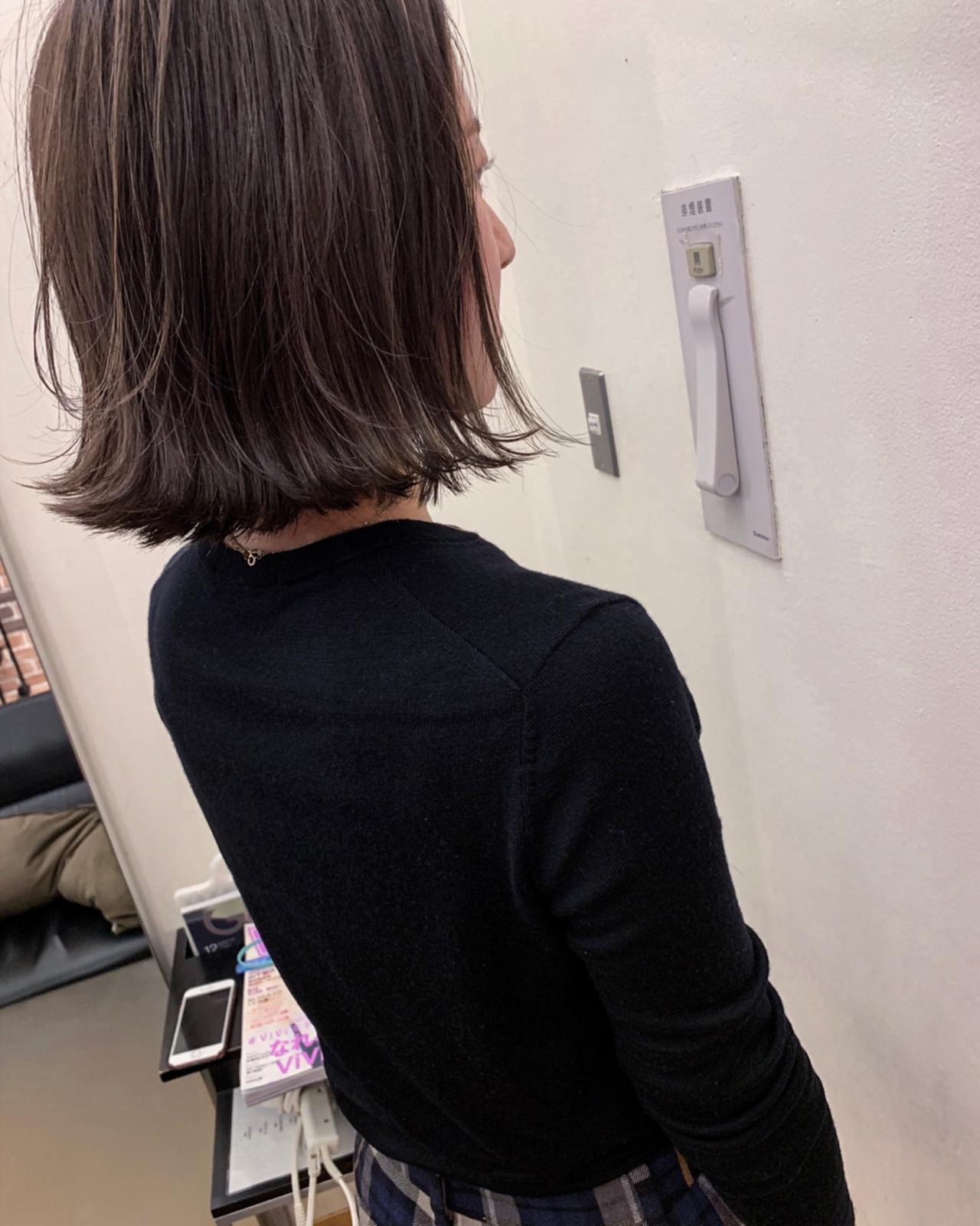 ボブ アンニュイほつれヘア デート 大人かわいい ヘアスタイルや髪型の写真・画像 | yumiko/sapporoSKNOW / SKNOW