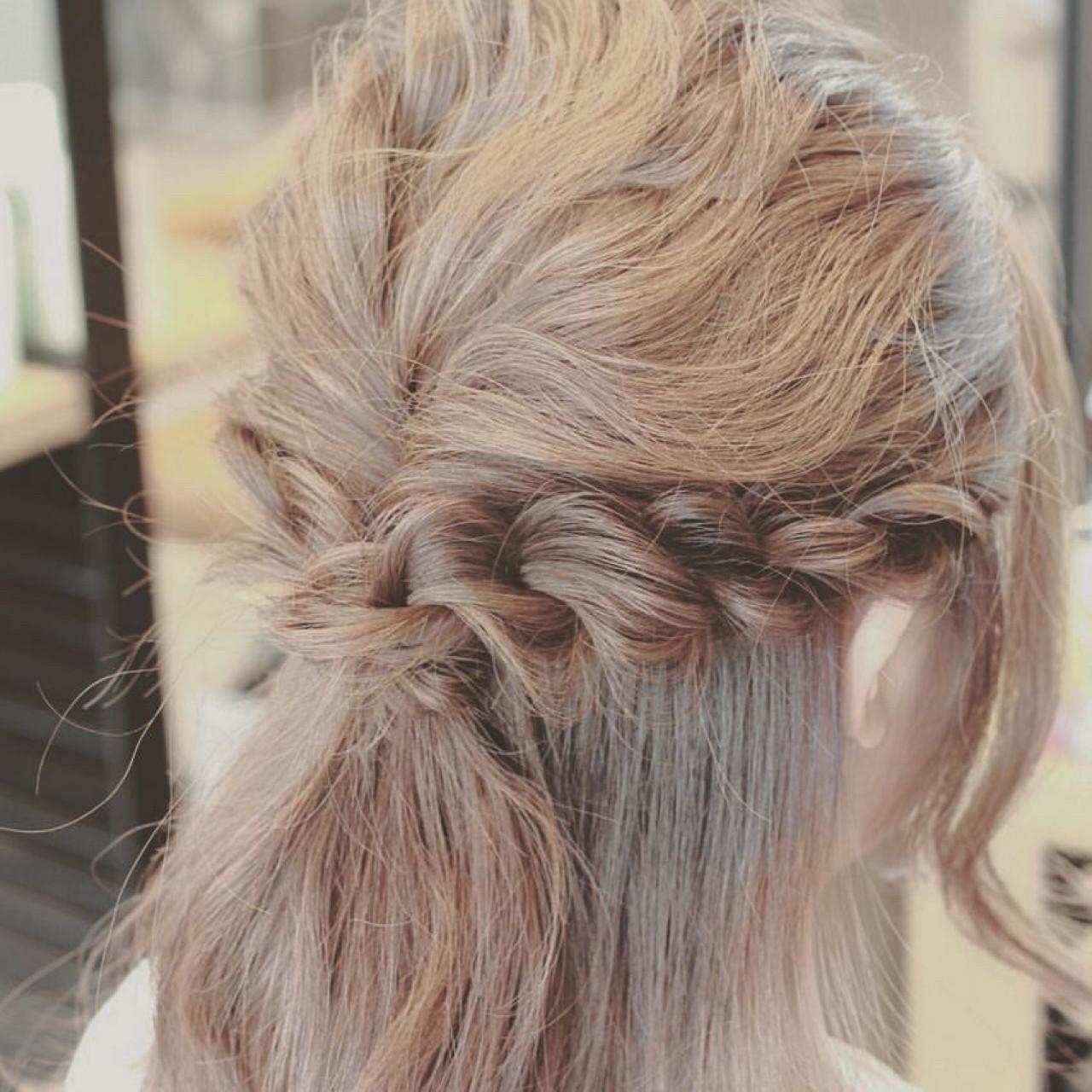 簡単ヘアアレンジ ヘアアレンジ 大人女子 ハーフアップ ヘアスタイルや髪型の写真・画像