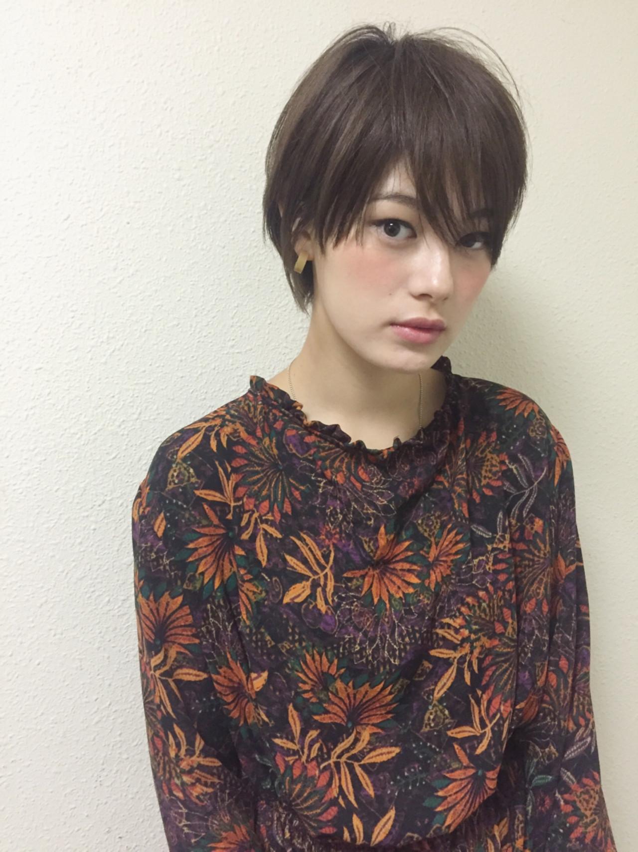 こなれ感 大人女子 フリンジバング ショート ヘアスタイルや髪型の写真・画像   SHIN/白田慎 / MAGNOLiA(マグノリア)