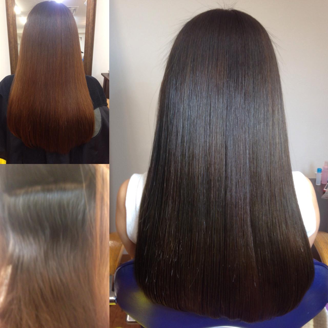 外国人風 グラデーションカラー フェミニン ロング ヘアスタイルや髪型の写真・画像