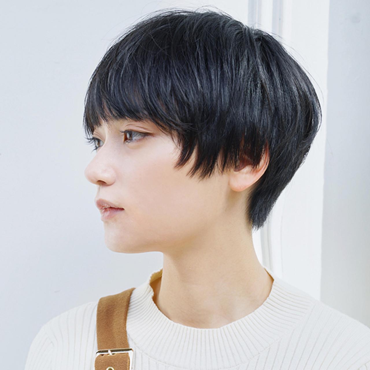ナチュラル ショートヘア ショートボブ ハンサムショート ヘアスタイルや髪型の写真・画像