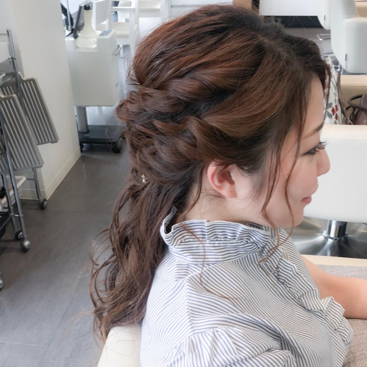 エレガント 上品 ヘアアレンジ ルーズ ヘアスタイルや髪型の写真・画像