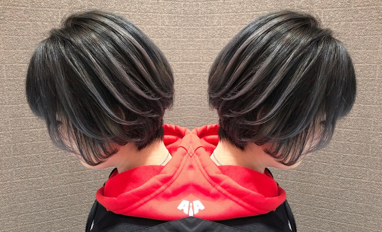 ショート 外国人風 3Dハイライト 外国人風カラー ヘアスタイルや髪型の写真・画像