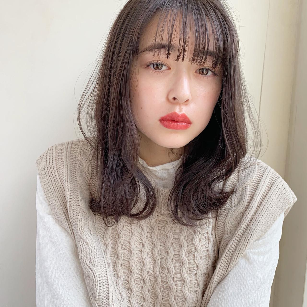 アンニュイほつれヘア シースルーバング 外ハネ ゆるふわ ヘアスタイルや髪型の写真・画像 | 伊藤愛子 GARDEN / GARDEN  omotesando