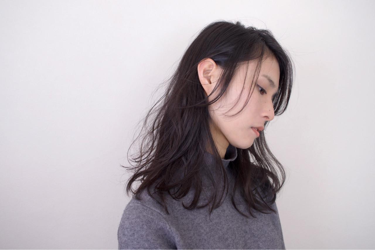 セミロング ナチュラル アンニュイ ゆるふわ ヘアスタイルや髪型の写真・画像 | 木下大輔 / amanda