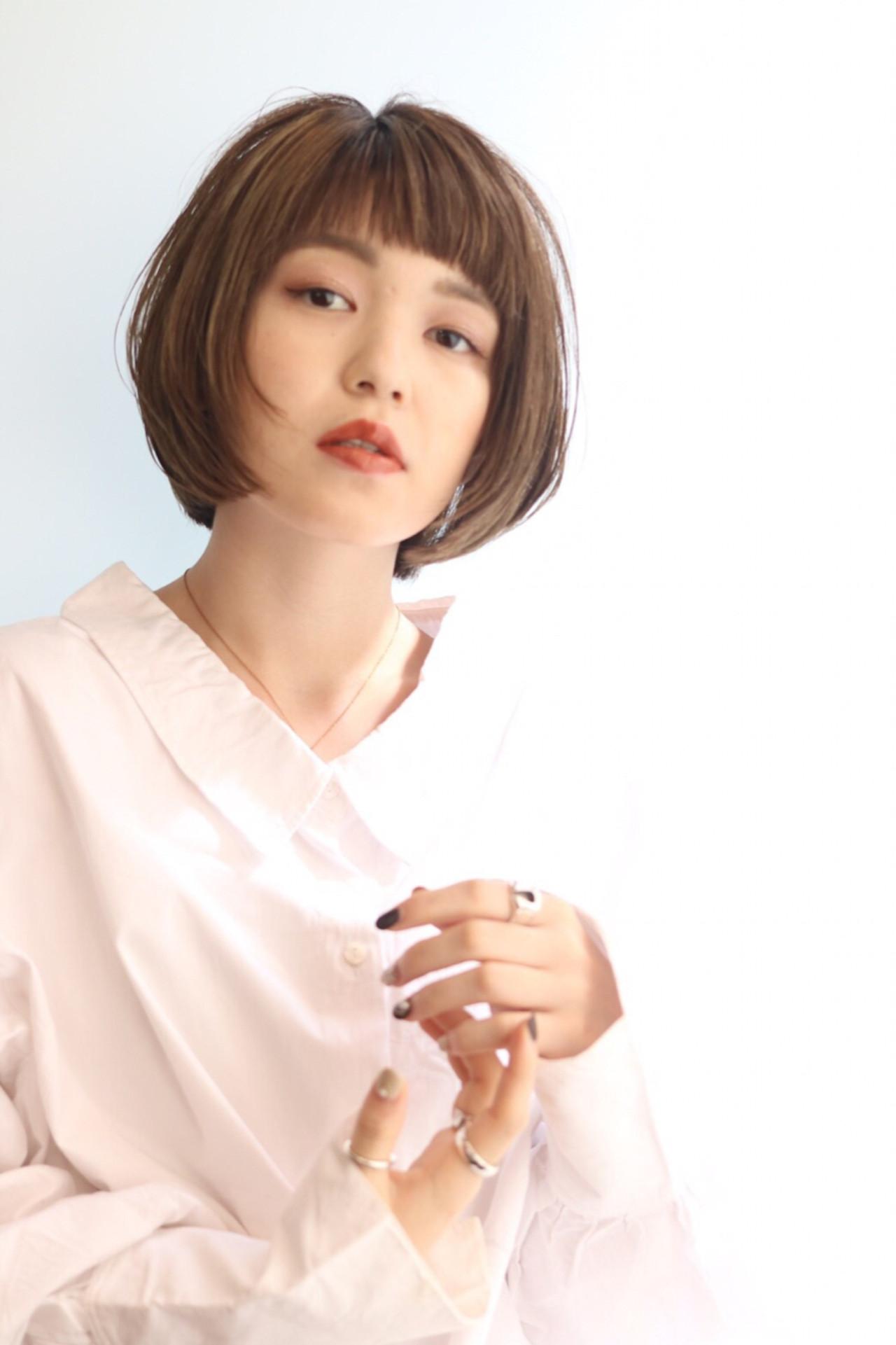 女子力 ナチュラル ハイライト ショート ヘアスタイルや髪型の写真・画像