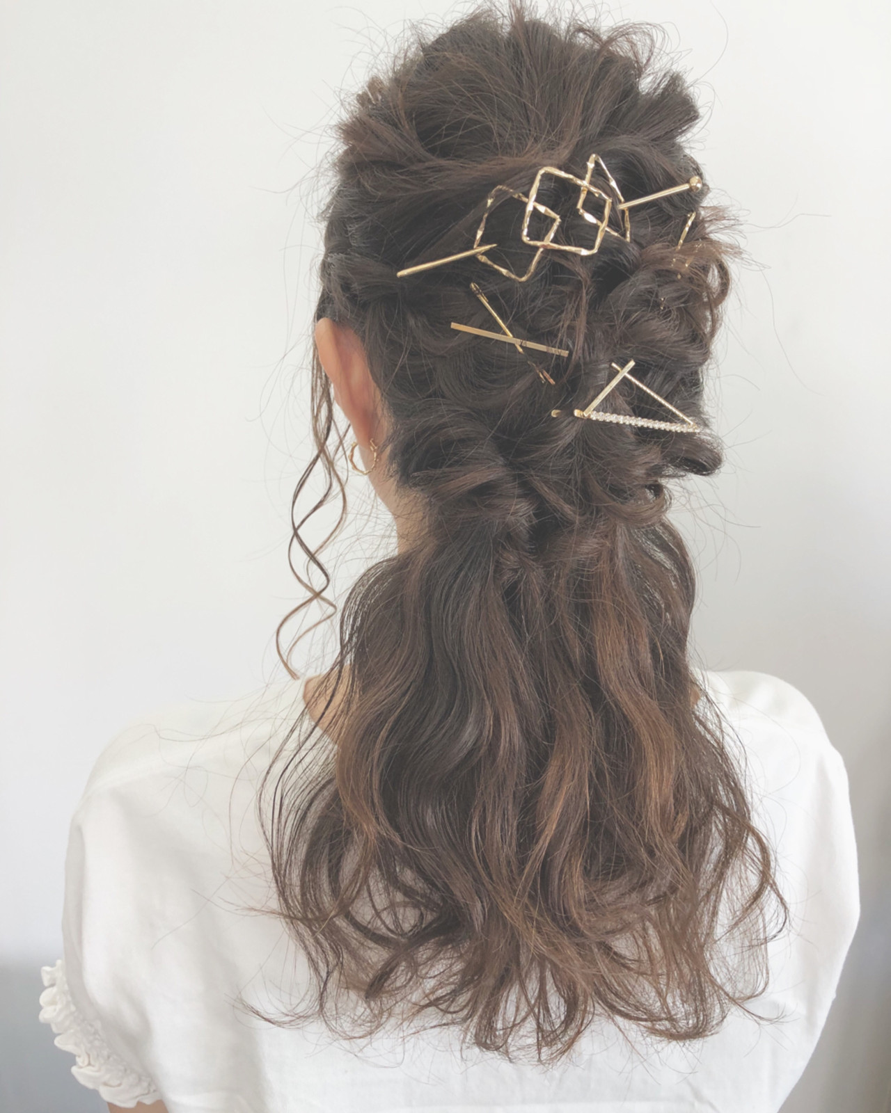 涼しげ 結婚式 パーティ 大人かわいい ヘアスタイルや髪型の写真・画像