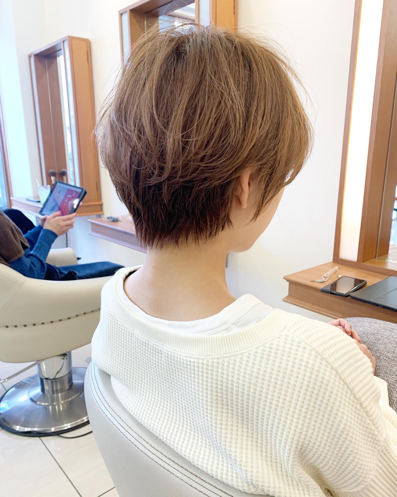ナチュラル ショート 小顔ショート ショートヘア ヘアスタイルや髪型の写真・画像 | 【つくば美容師】ショートヘア愛好家/矢崎 翔太 / ジールサロン