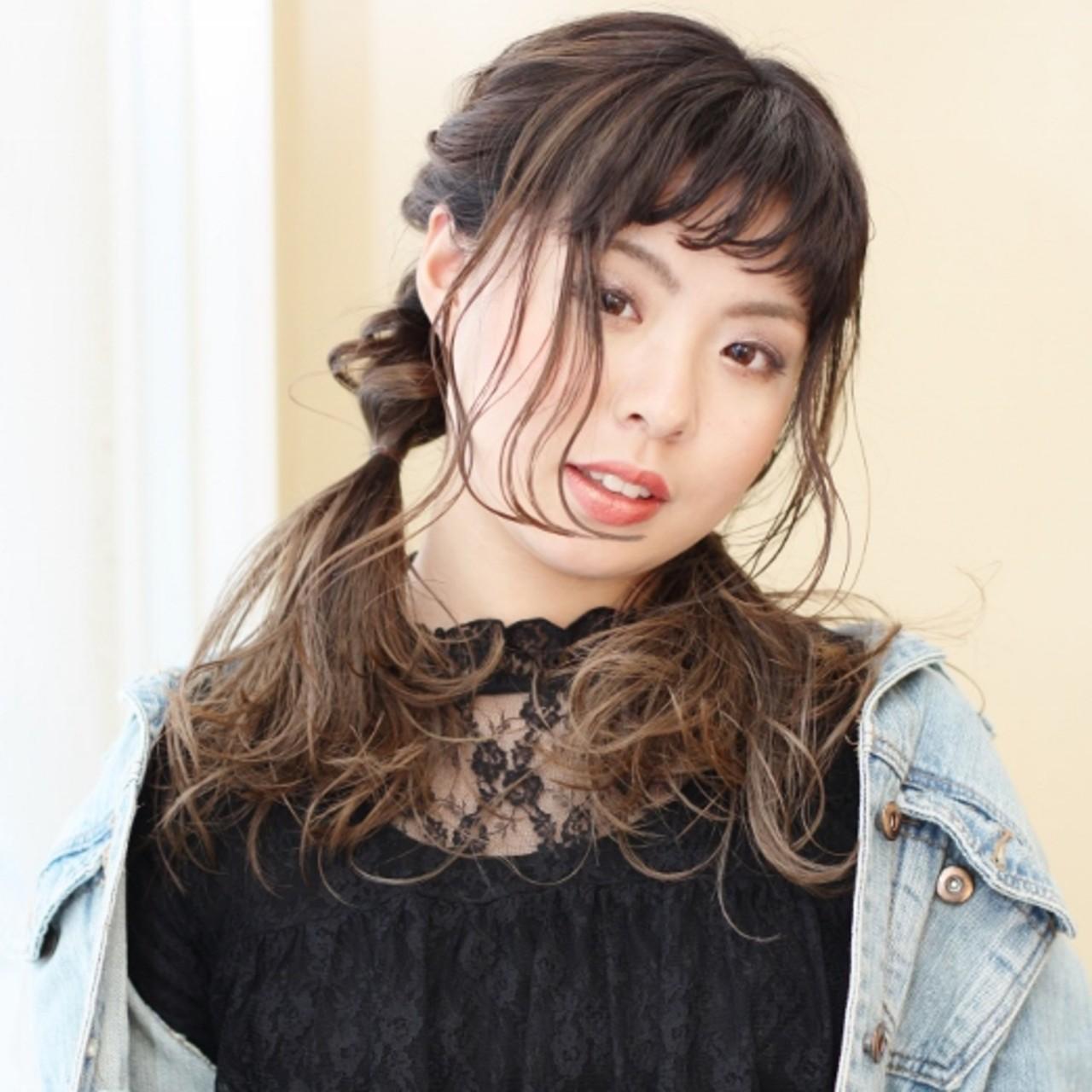 ダブルカラー ナチュラル セミロング ツインテール ヘアスタイルや髪型の写真・画像 | 北村 雄吾 / piece