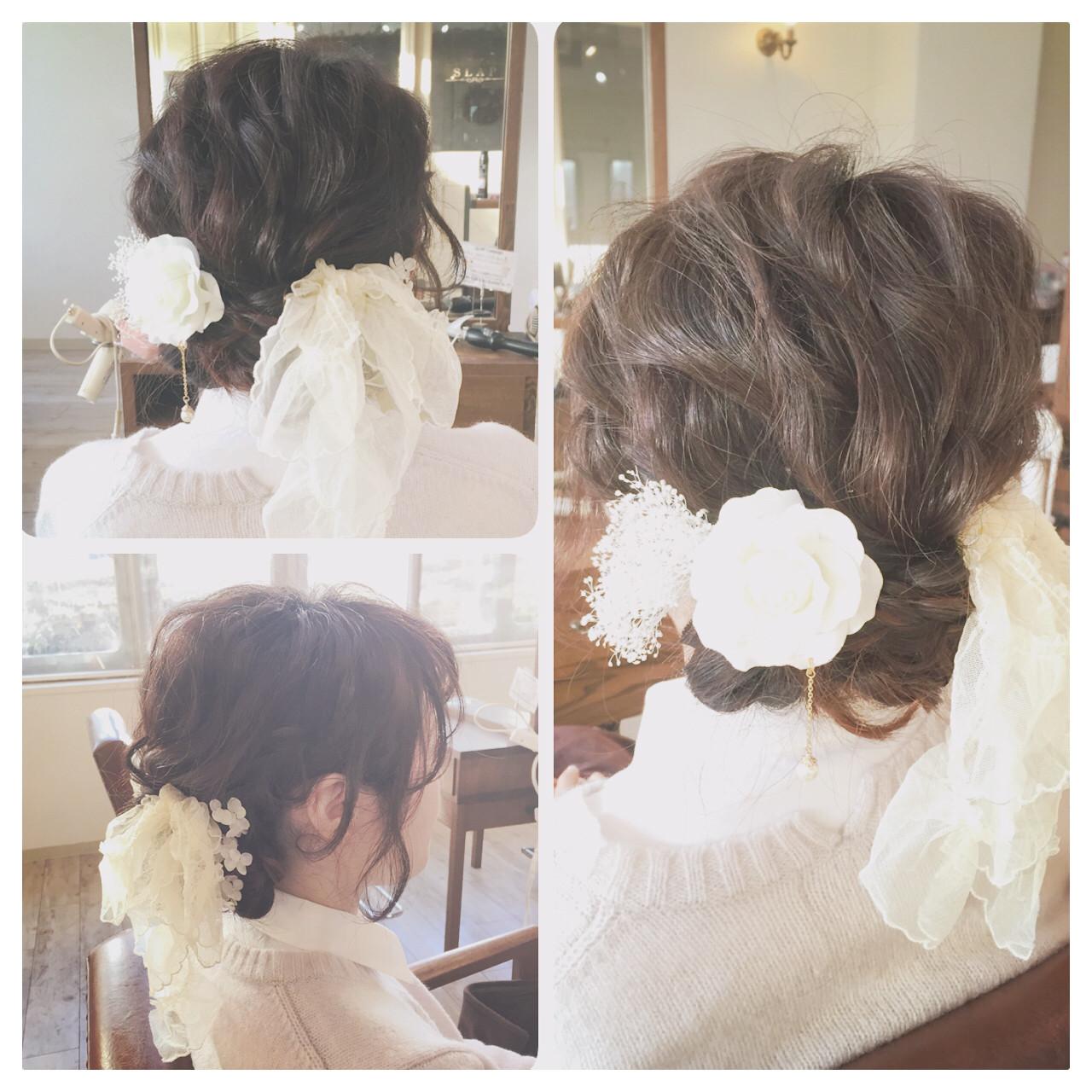 ショート 簡単ヘアアレンジ ヘアアレンジ セミロング ヘアスタイルや髪型の写真・画像