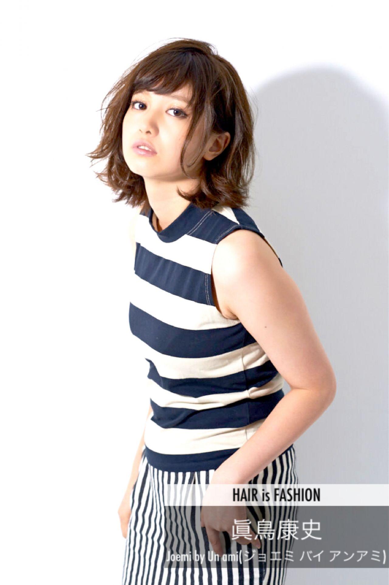 ミディアム パンク ウェットヘア ボブ ヘアスタイルや髪型の写真・画像