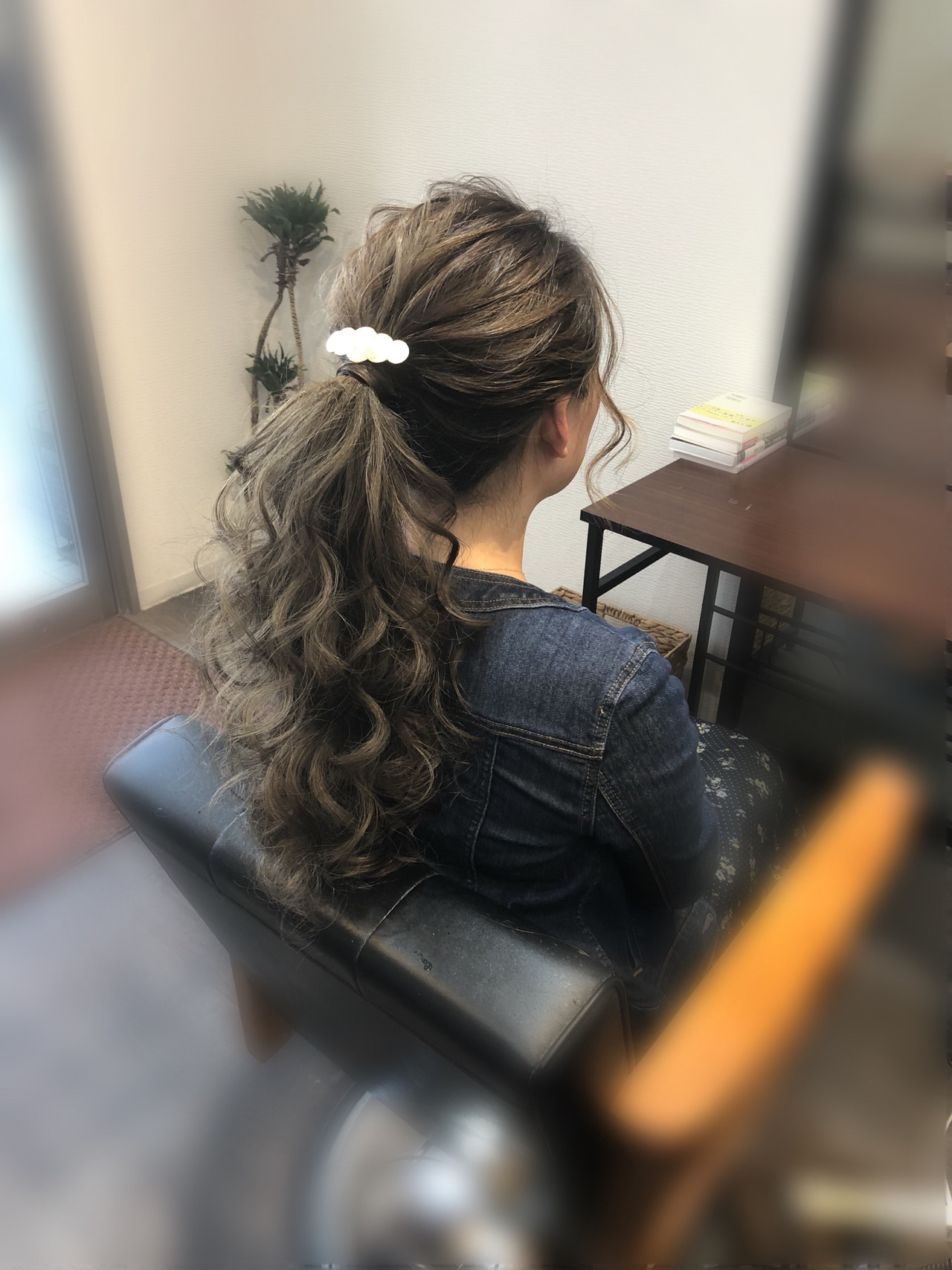 ポニーテール アップスタイル ヘアアレンジ フェミニン ヘアスタイルや髪型の写真・画像