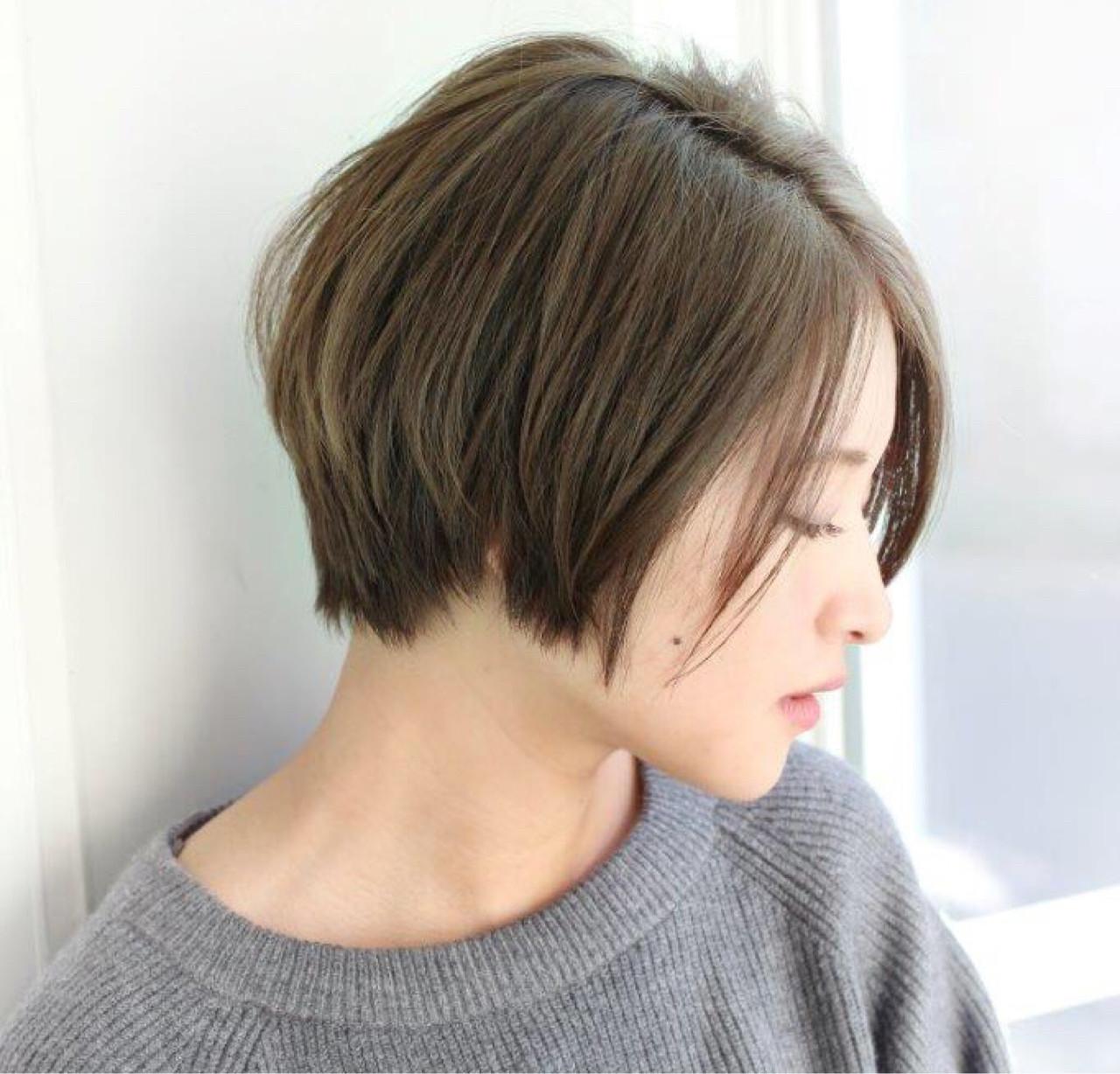 切りっぱなし ハイライト ストリート ボブ ヘアスタイルや髪型の写真・画像 | ボブで人気‼️ 増永 剛大/Un ami / Un ami omotesando