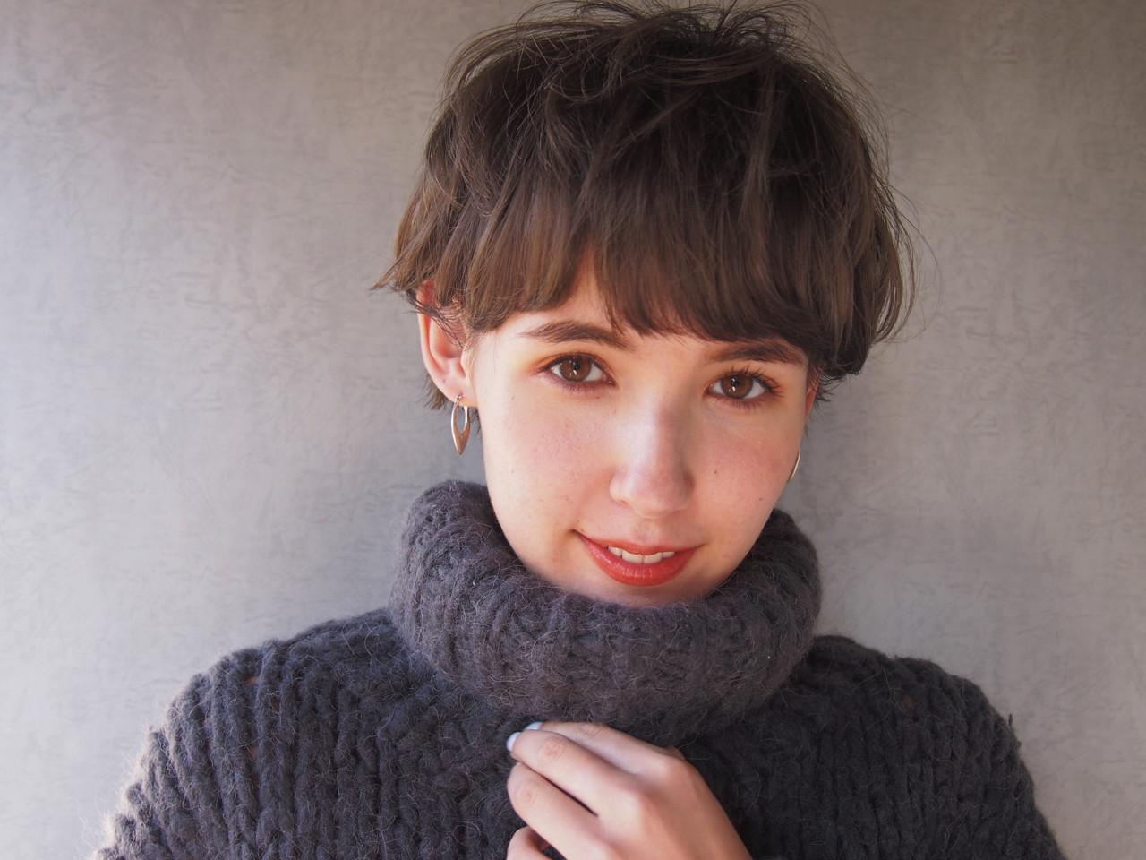 ナチュラル アンニュイ ショート ゆるふわ ヘアスタイルや髪型の写真・画像 | 鈴木 成治 / LOAVE AOYAMA(ローヴ アオヤマ)