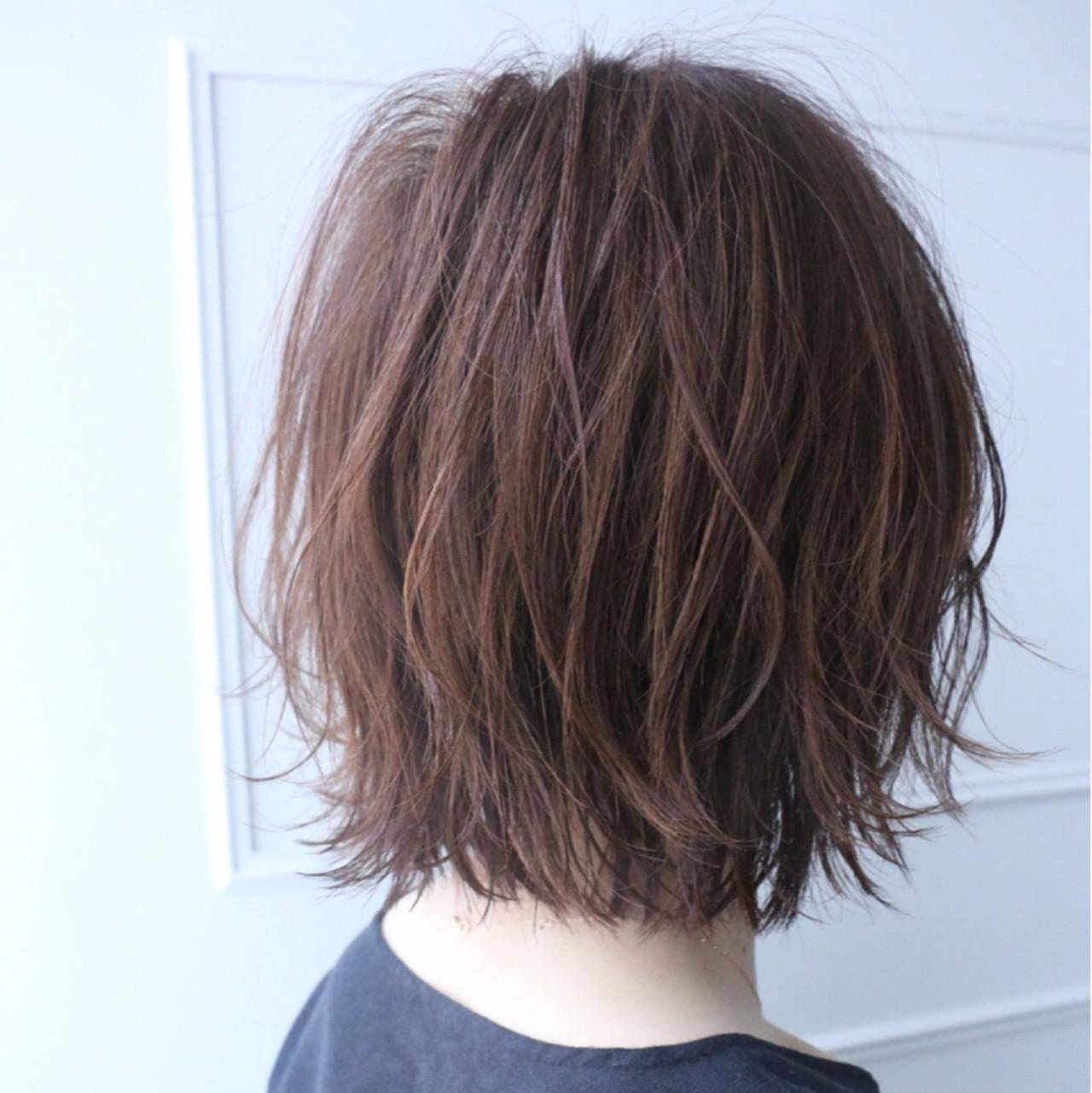 ニュアンス ショートボブ 小顔 ナチュラル ヘアスタイルや髪型の写真・画像 | KAHO YANAGIHARA /