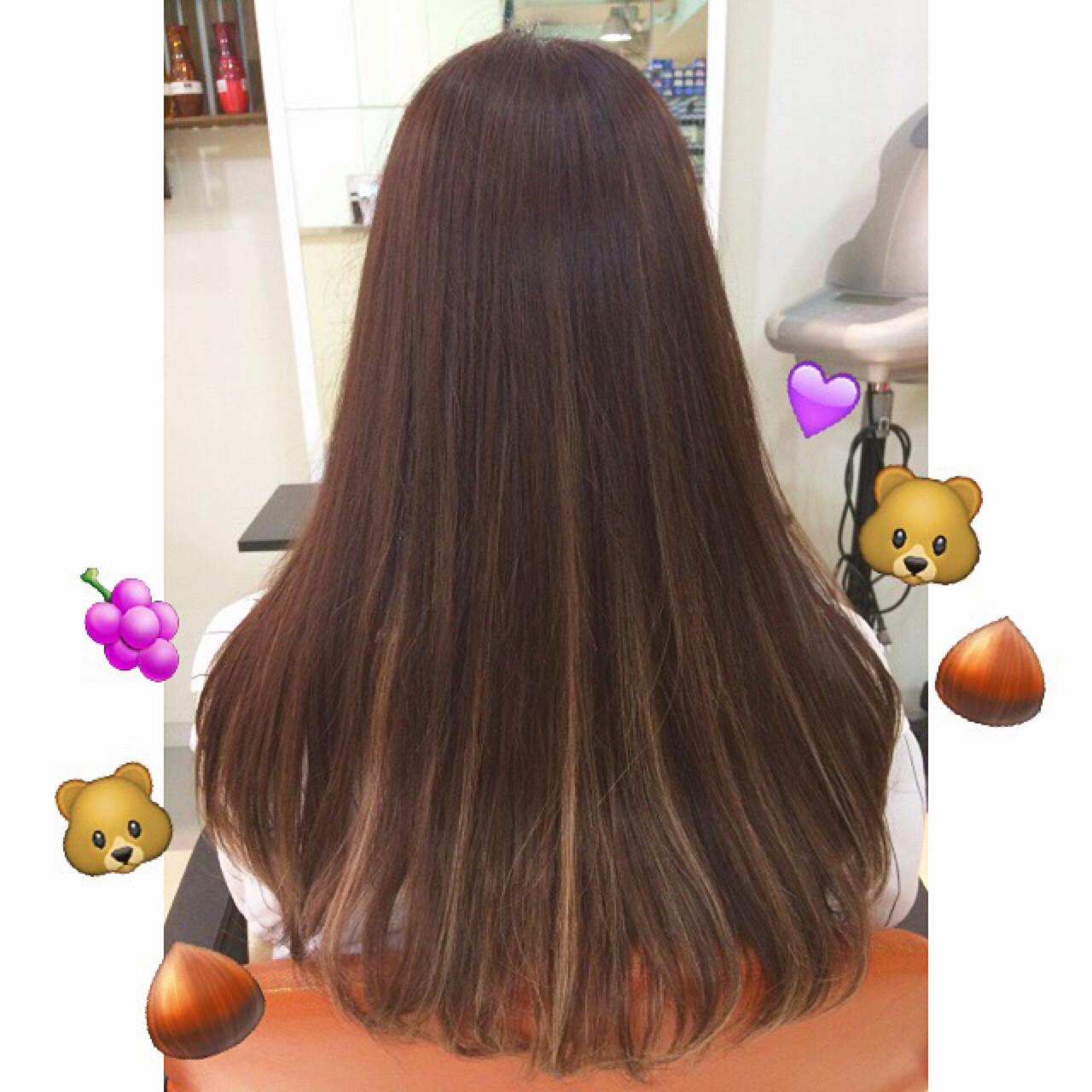 ハイライト ロング 暗髪 秋 ヘアスタイルや髪型の写真・画像 | 藤野美咲 / LES  GARCONS
