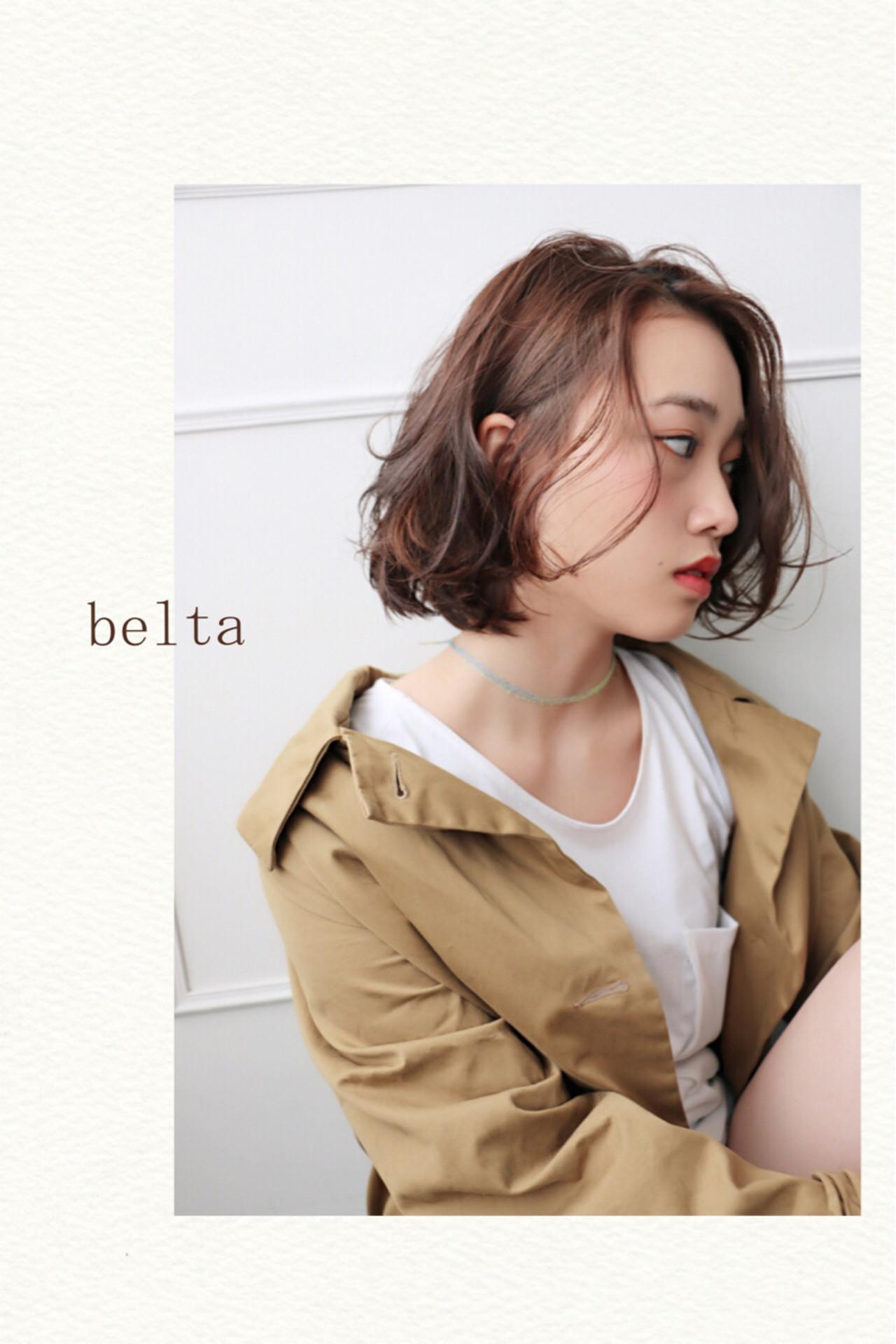 ストリート 大人かわいい ゆるふわ アッシュ ヘアスタイルや髪型の写真・画像 | 田前 恵 / belta