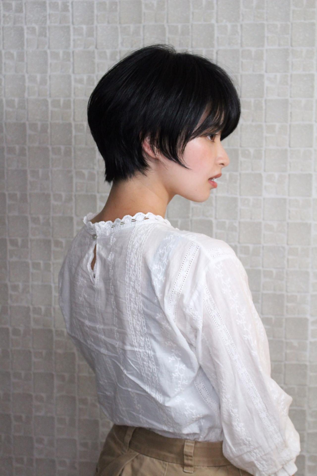 ナチュラル 黒髪 前髪 就活 ヘアスタイルや髪型の写真・画像