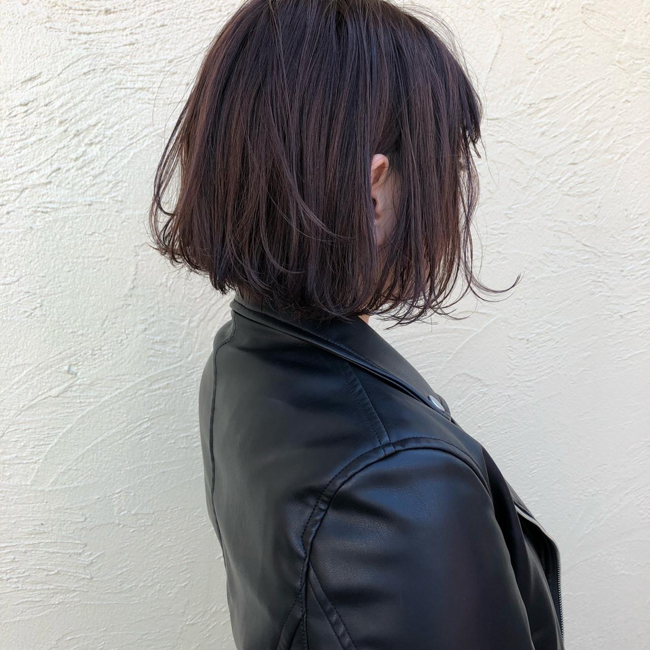 モード 外ハネ ボブ こなれ感 ヘアスタイルや髪型の写真・画像