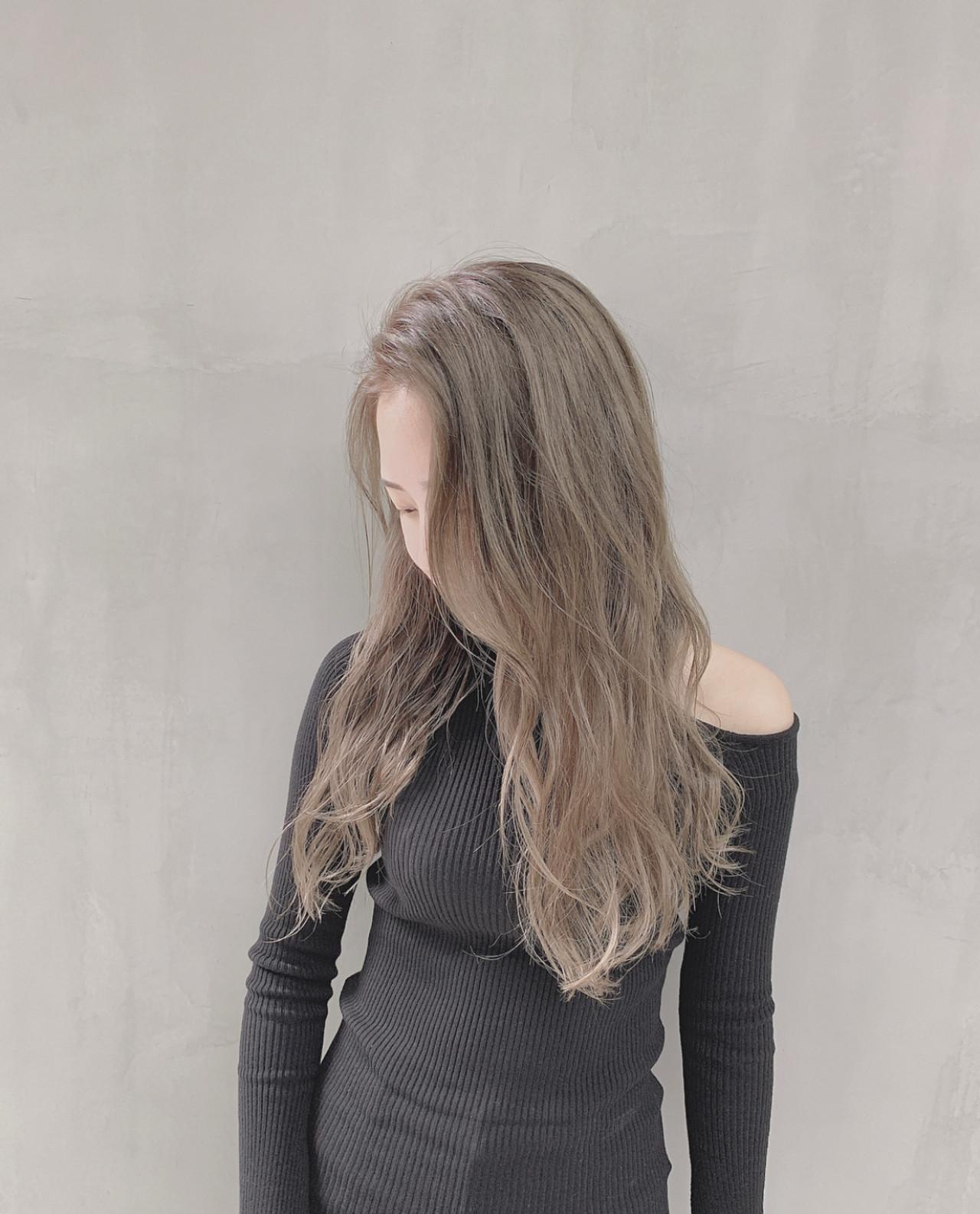 グレージュ ミルクベージュ 外国人風カラー ストリート ヘアスタイルや髪型の写真・画像