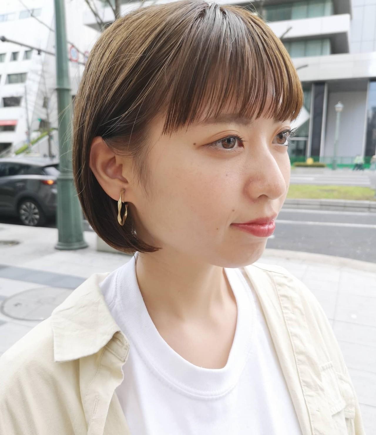 N.オイル ボブ シンプルボブ ナチュラル ヘアスタイルや髪型の写真・画像 | Yusuke Matsumoto / HAIR'S Lunetta 心斎橋