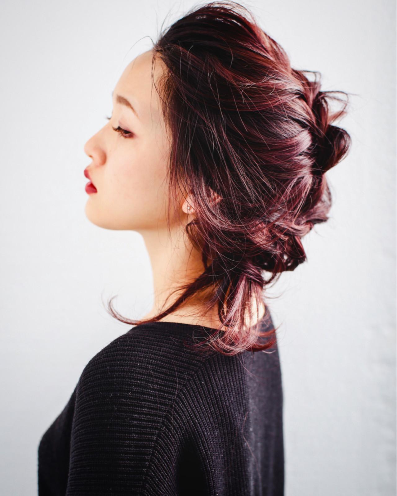 ヘアアレンジ ミディアム 簡単ヘアアレンジ こなれ感 ヘアスタイルや髪型の写真・画像