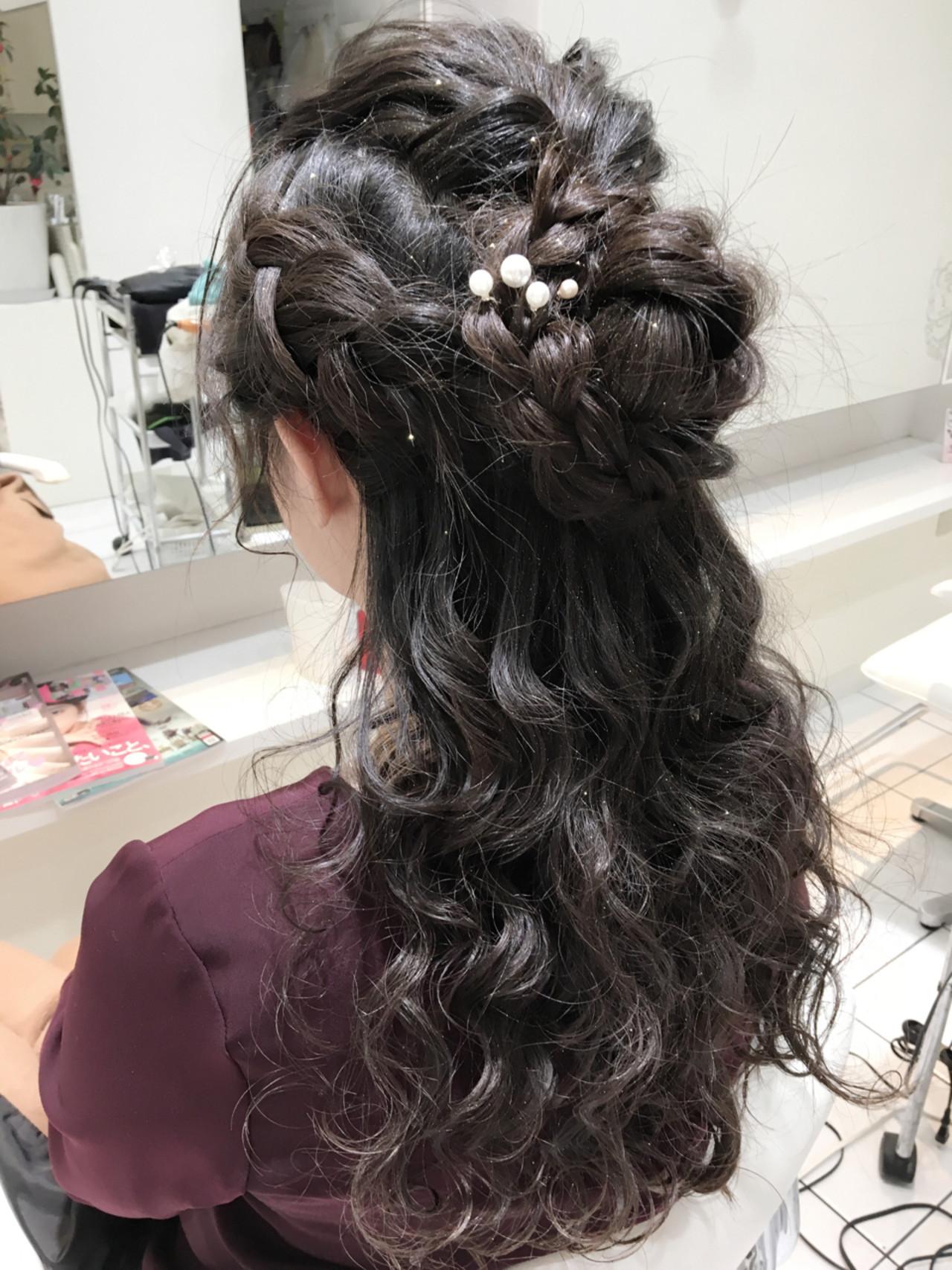 くるりんぱ ロング ショート ハーフアップ ヘアスタイルや髪型の写真・画像