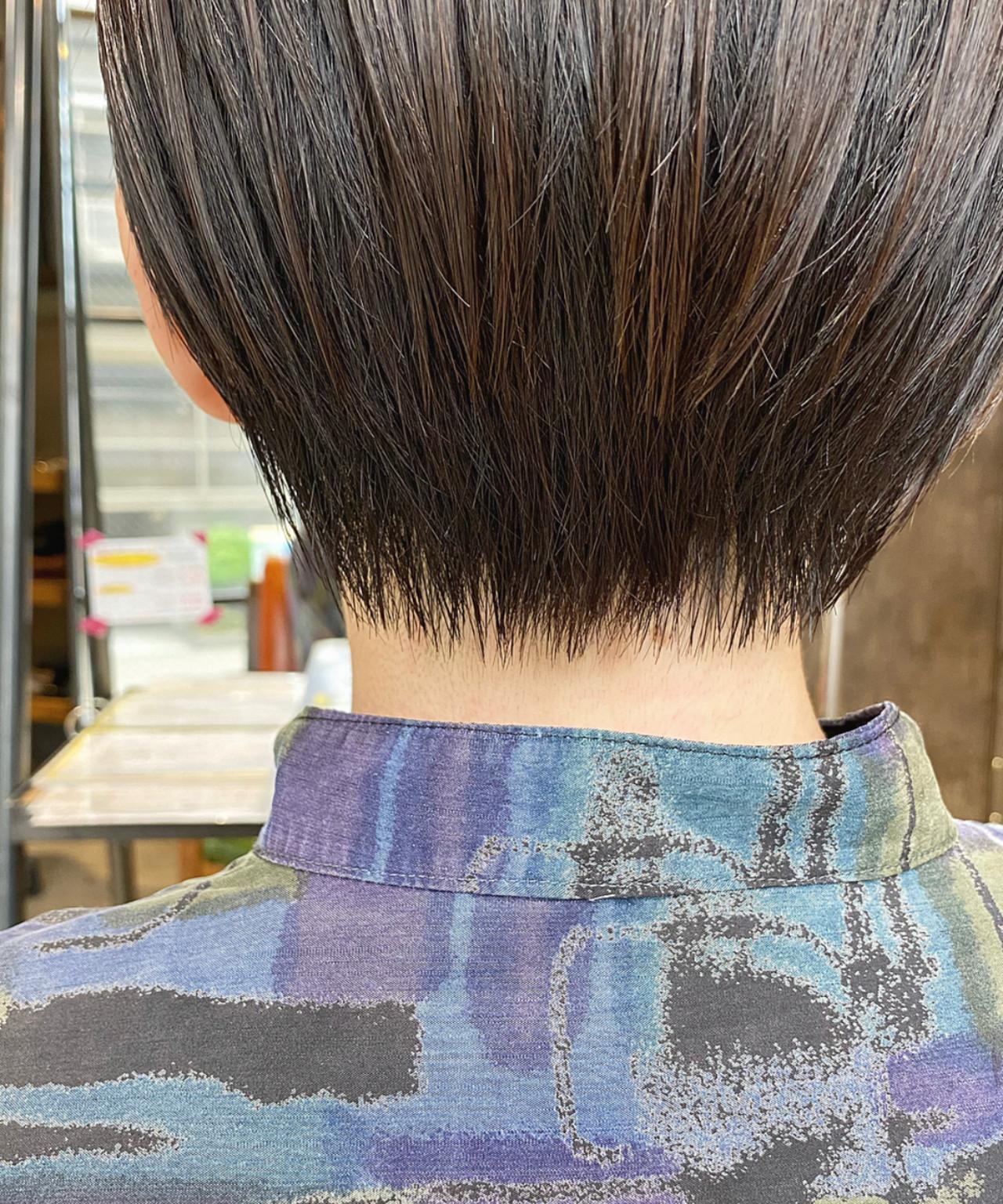 ショート ショートヘア ナチュラル 前髪 ヘアスタイルや髪型の写真・画像 | Nakaji. / ensue