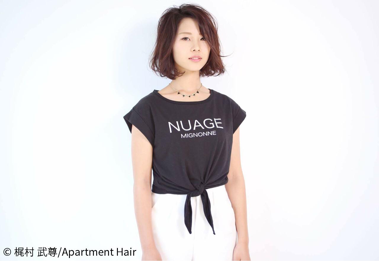暗髪 外ハネ 黒髪 ボブ ヘアスタイルや髪型の写真・画像   梶村 武尊/Apartment Hair / Apartment Hair