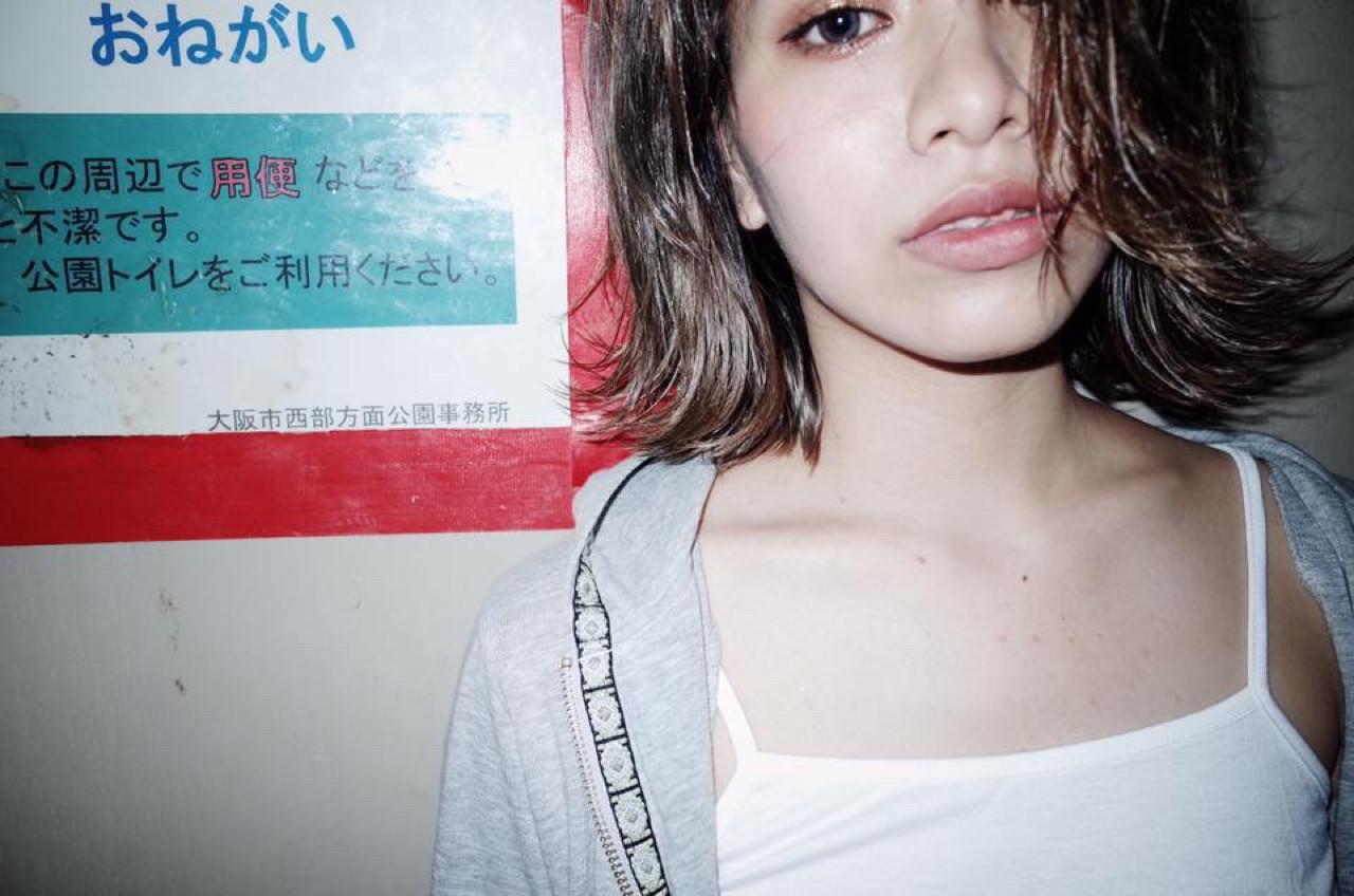 ストリート ボブ 抜け感 外国人風 ヘアスタイルや髪型の写真・画像