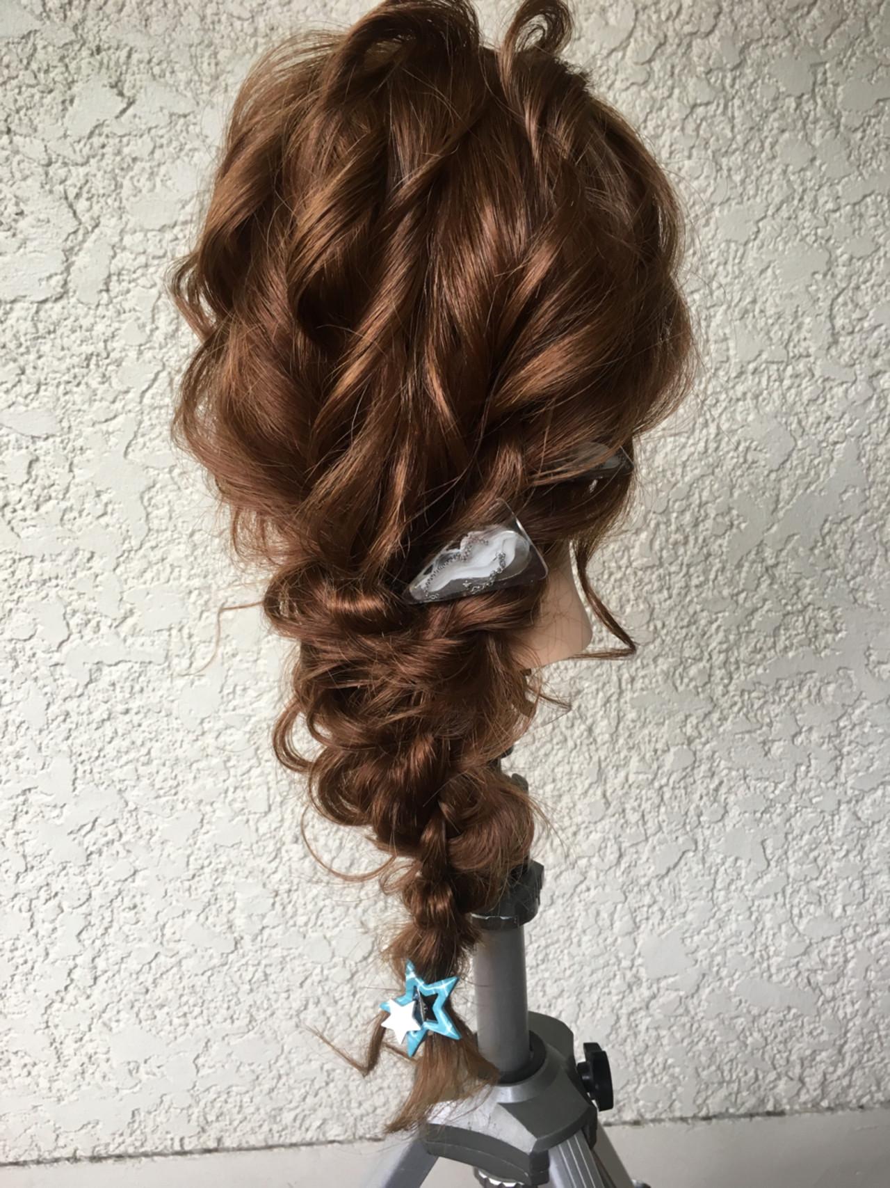 ナチュラル ヘアアレンジ 結婚式 ロング ヘアスタイルや髪型の写真・画像