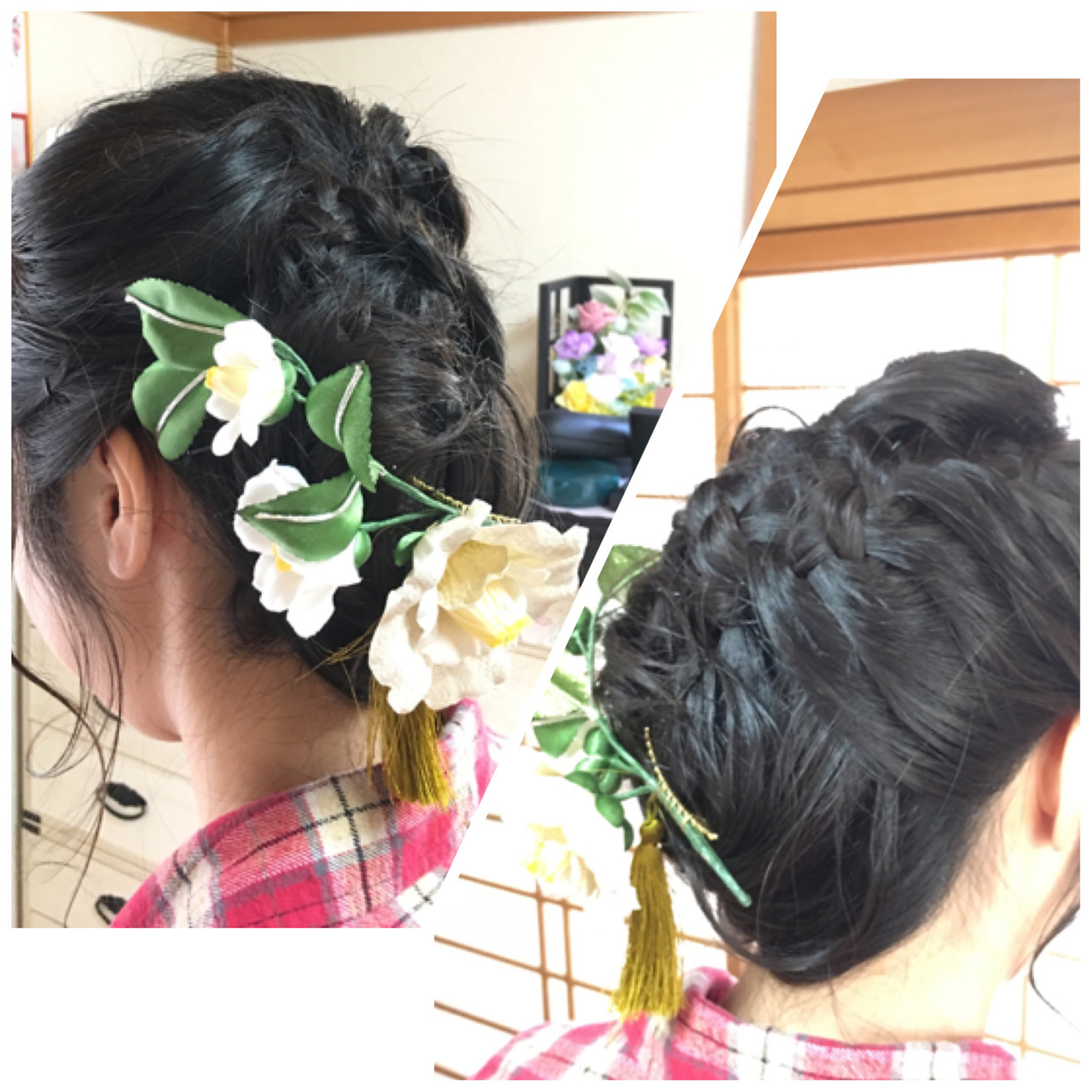 和装ヘア 成人式 セミロング 結婚式 ヘアスタイルや髪型の写真・画像 | okunaka / wabisabi~和美咲魅~