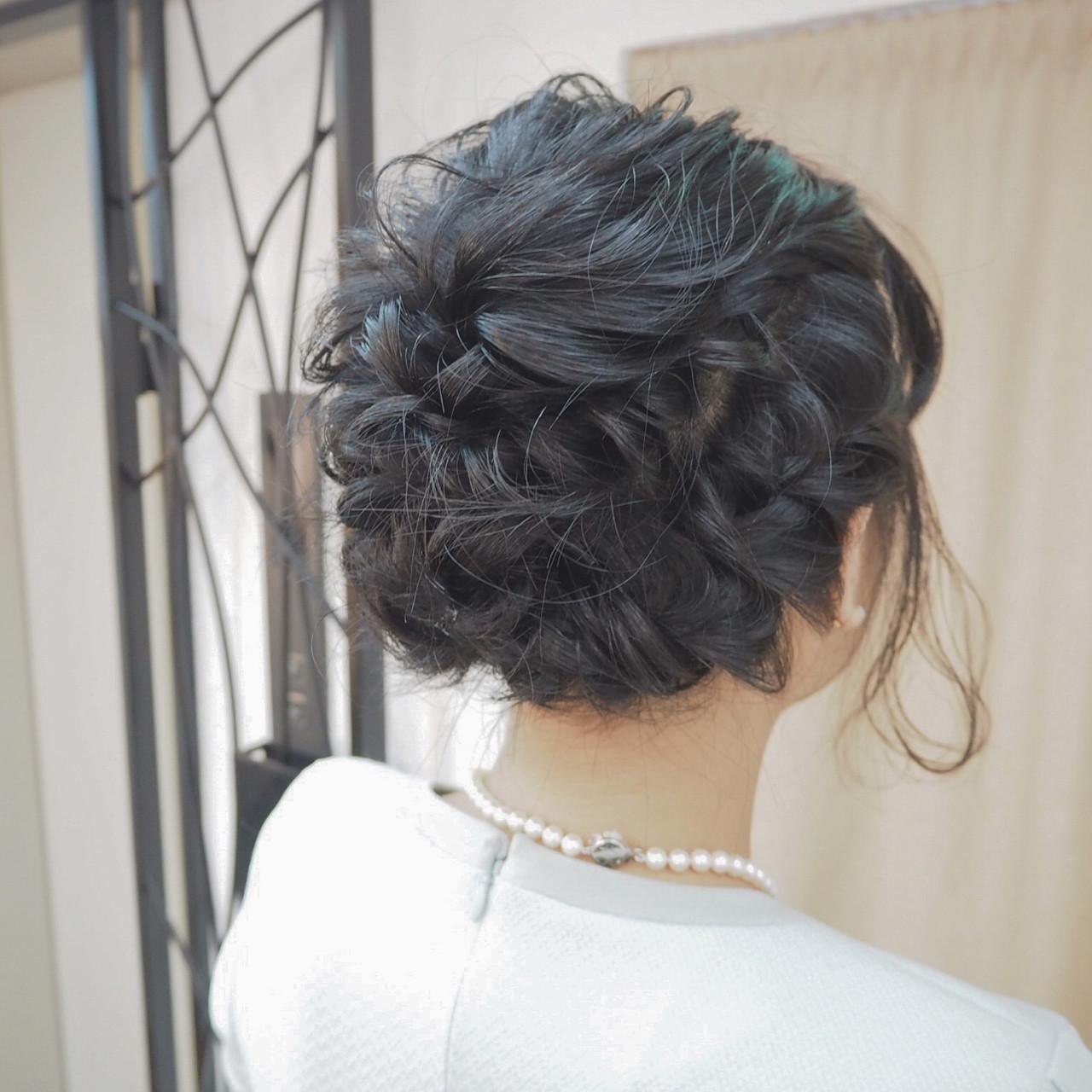 女子会 結婚式 編み込み デート ヘアスタイルや髪型の写真・画像