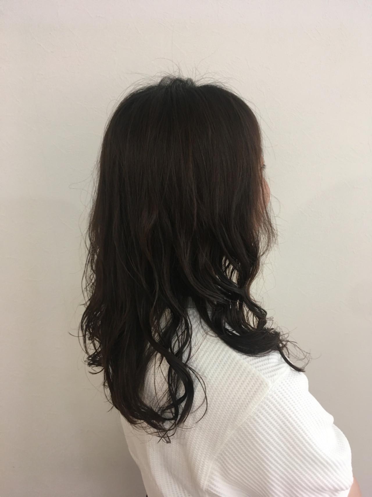 ナチュラル パーマ セミロング 簡単 ヘアスタイルや髪型の写真・画像