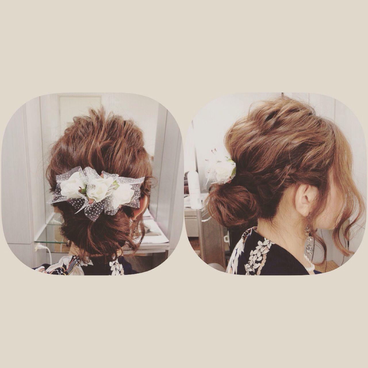 ヘアアレンジ 大人女子 波ウェーブ ゆるふわ ヘアスタイルや髪型の写真・画像