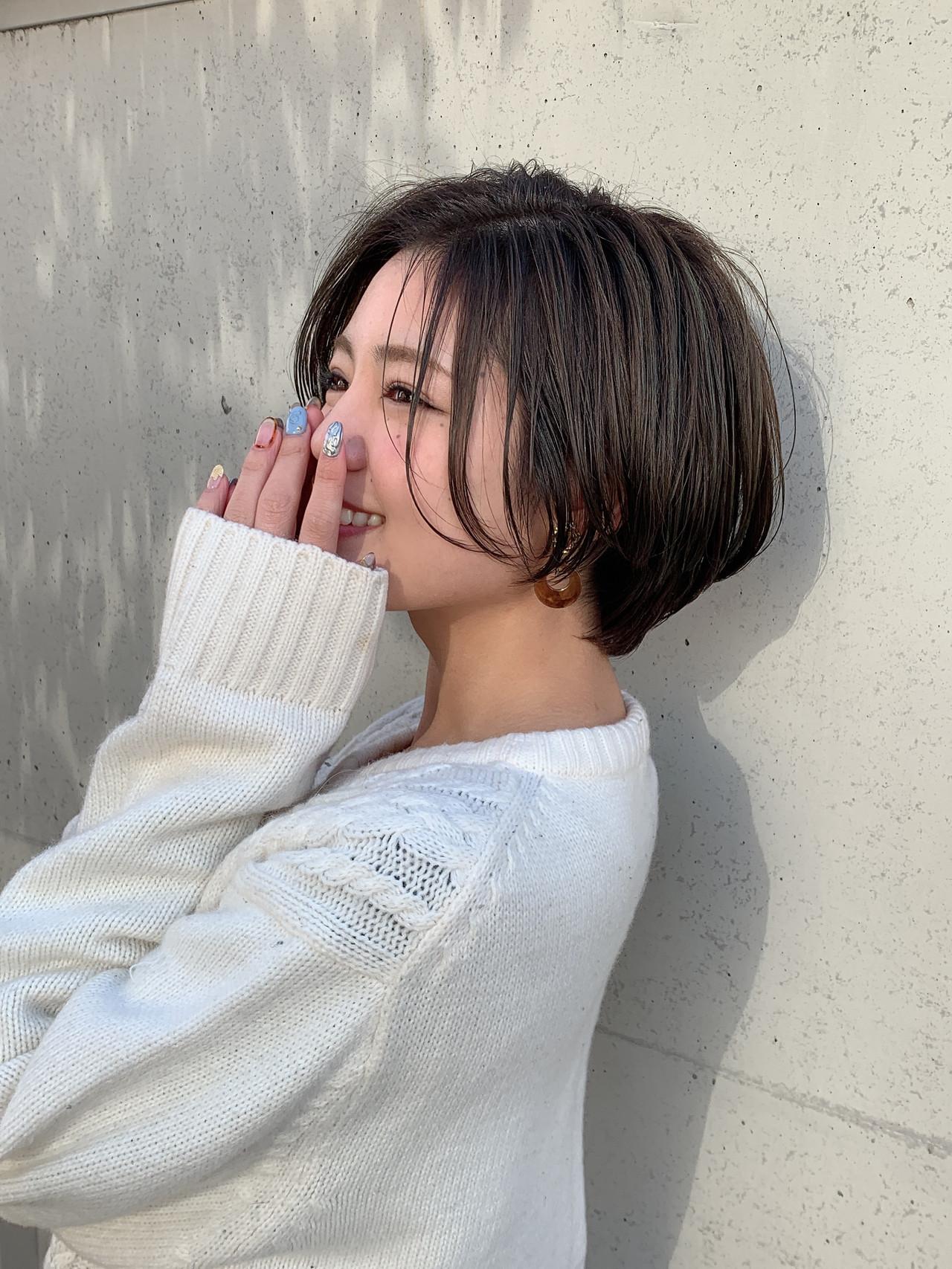 ショート 可愛い ハンサムショート  ヘアスタイルや髪型の写真・画像   山口 健太 / Lond ange