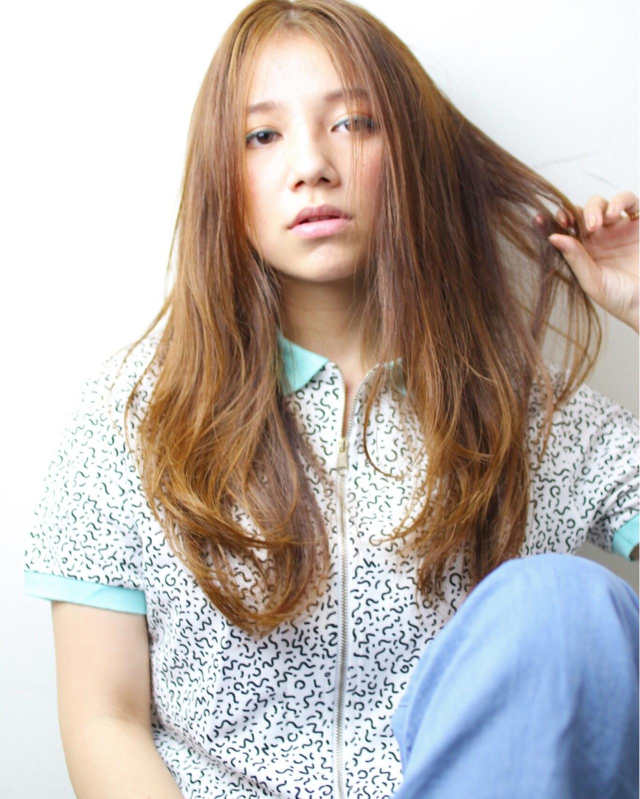 パーマ ピュア 大人かわいい ロング ヘアスタイルや髪型の写真・画像