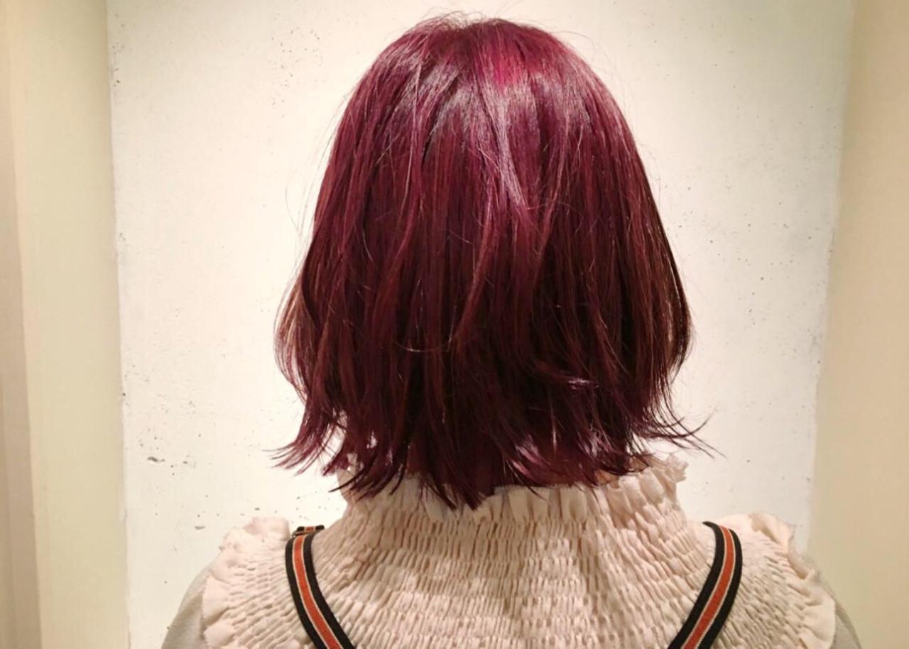 ラベンダーピンク ミディアム ピンクブラウン ピンクアッシュ ヘアスタイルや髪型の写真・画像 | KENTA / Lalei