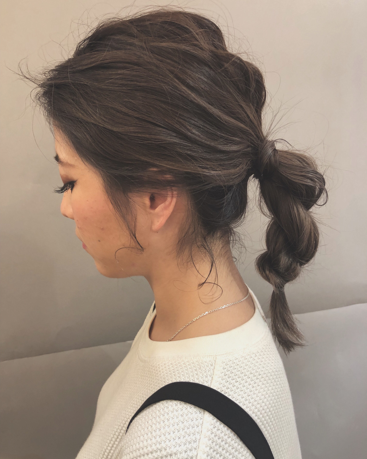 ミディアム 結婚式 デート フェミニン ヘアスタイルや髪型の写真・画像