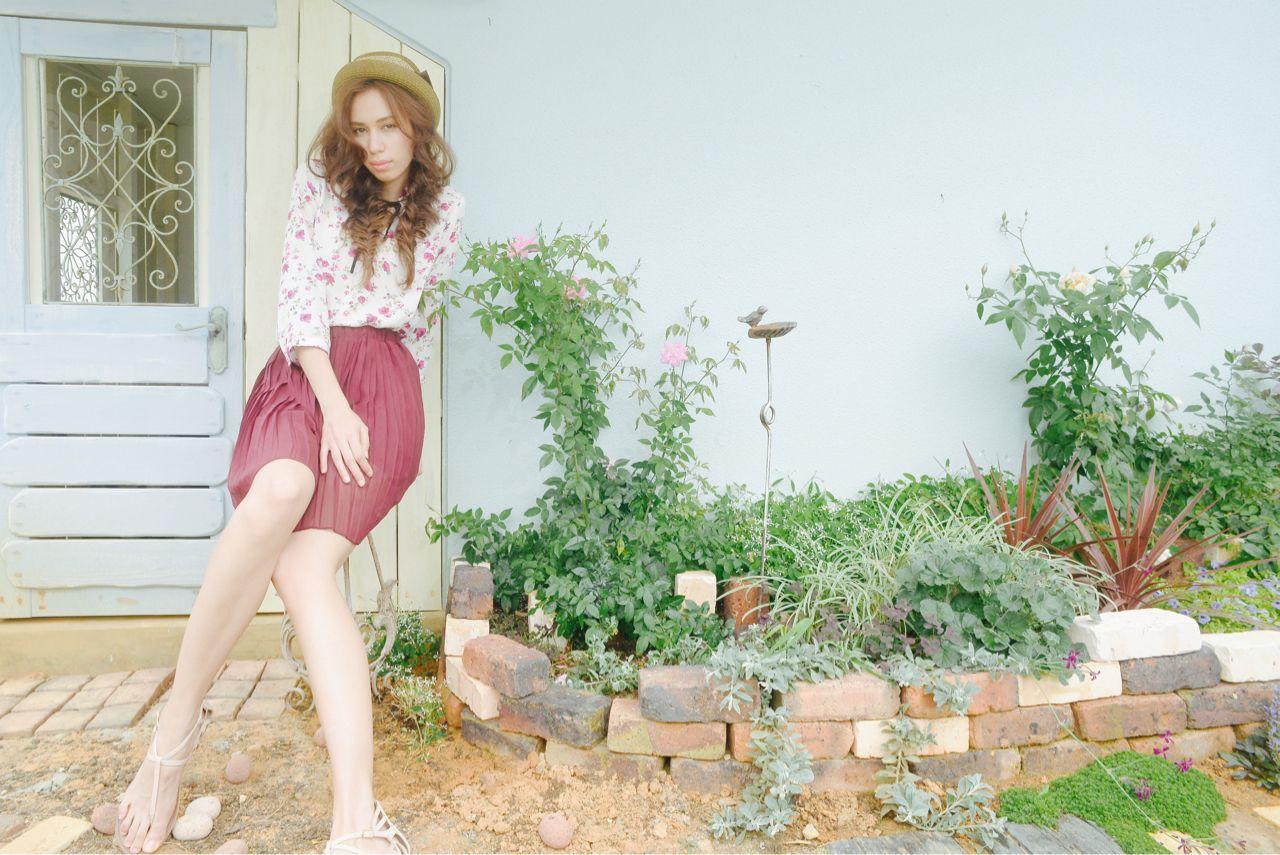 お庭でパチリな夏girl